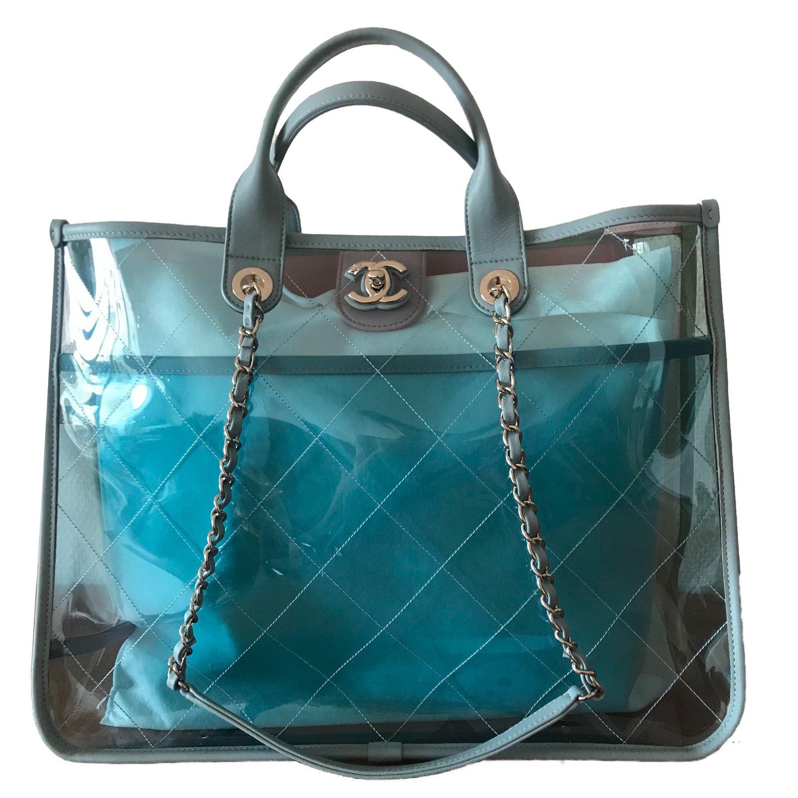 fc14d7bb0f0350 Chanel Handbag Handbags Plastic Blue ref.73749 - Joli Closet