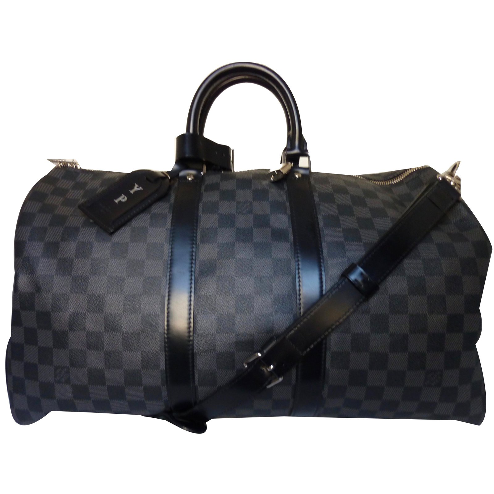 ad6c9937a26 Sacs de voyage Louis Vuitton Keepall 45 Cuir