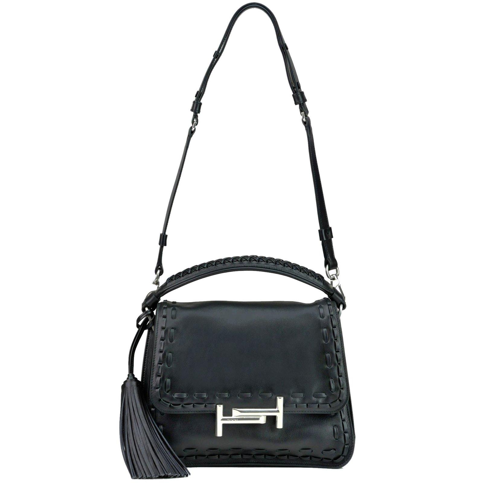 Tod s Handbags Handbags Leather Black ref.74068 - Joli Closet 367e9f0dce09d