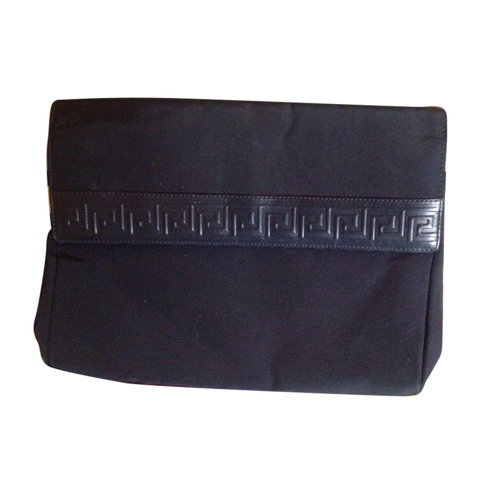 fc583678f5 Gianni Versace Clutch Bag Clutch bags Cloth Navy blue ref.74200 ...