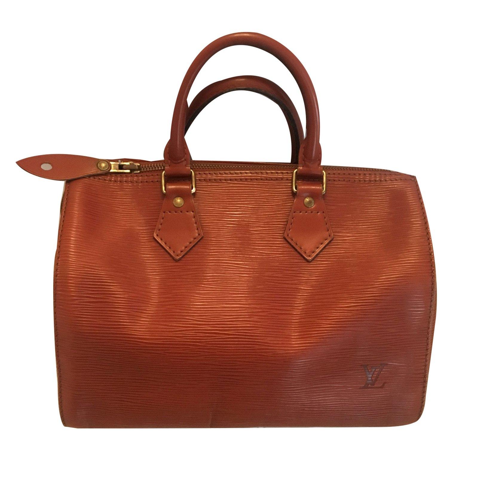 Louis Vuitton Speedy 25 Handbags Leather Light brown ref.74455 ... 550b3dc43d205