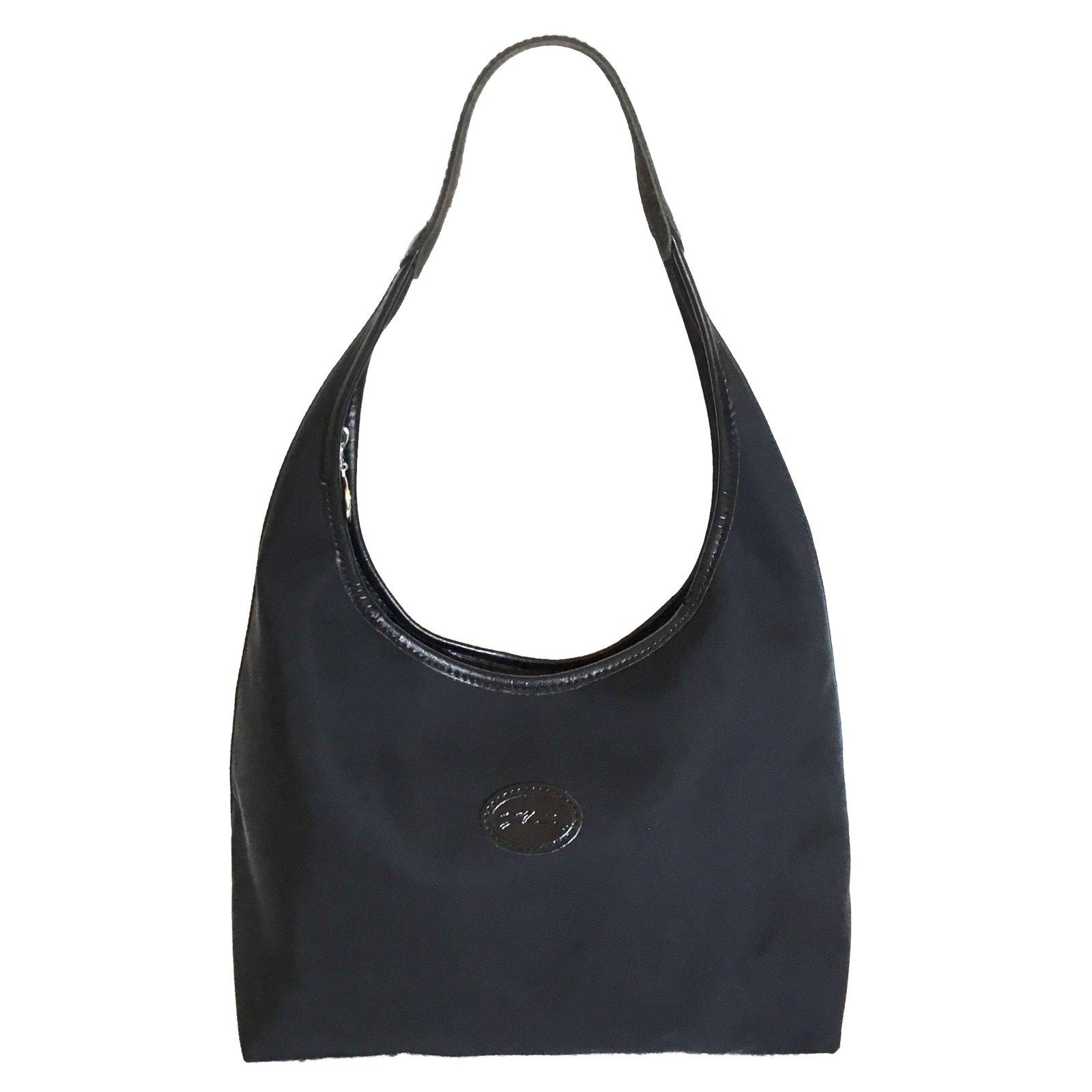 a1382470c5f5f Sacs à main Longchamp Sac à main Cuir,Nylon Noir ref.74541 - Joli Closet