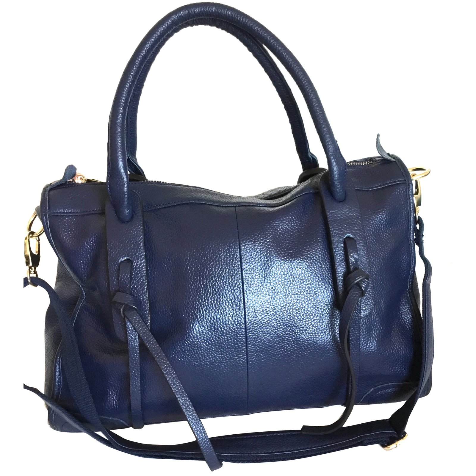 Georges Rech Handbag Handbags Leather Navy Blue Ref 74543