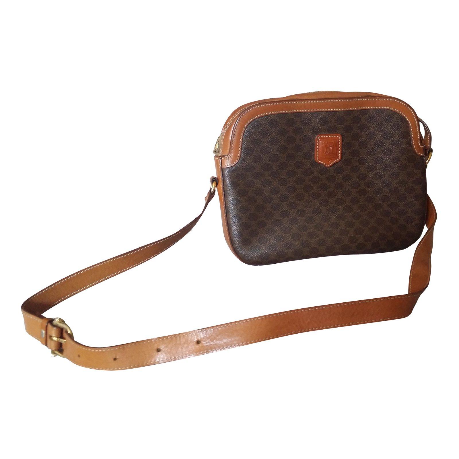 072730641d2b Céline Vintage bag Handbags Leather Brown ref.74550 - Joli Closet