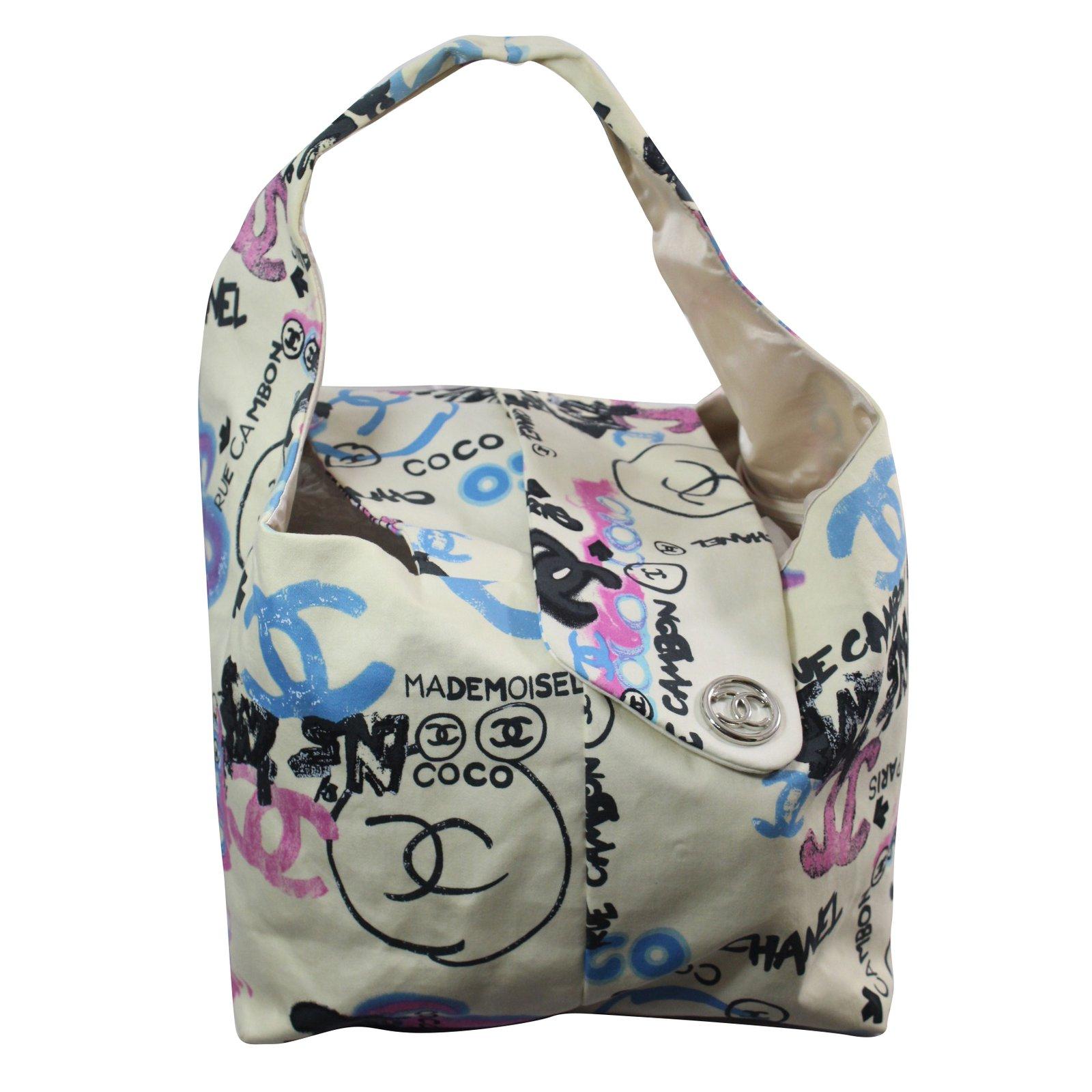 81a07a578e66 Chanel Handbag Handbags Cloth Beige ref.74773 - Joli Closet