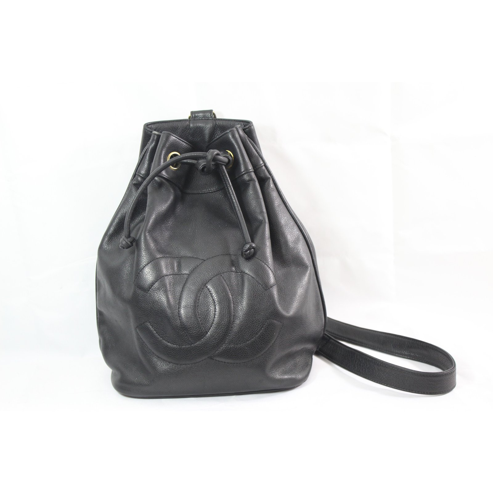 dc5590205f4c Chanel backpack backpacks leather black ref joli closet jpg 1600x1600 Black  chanel backpack