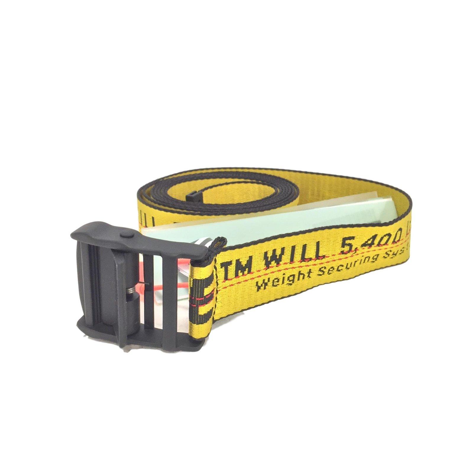 918879c57c3c Off White Belts Belts Synthetic Yellow ref.75405 - Joli Closet