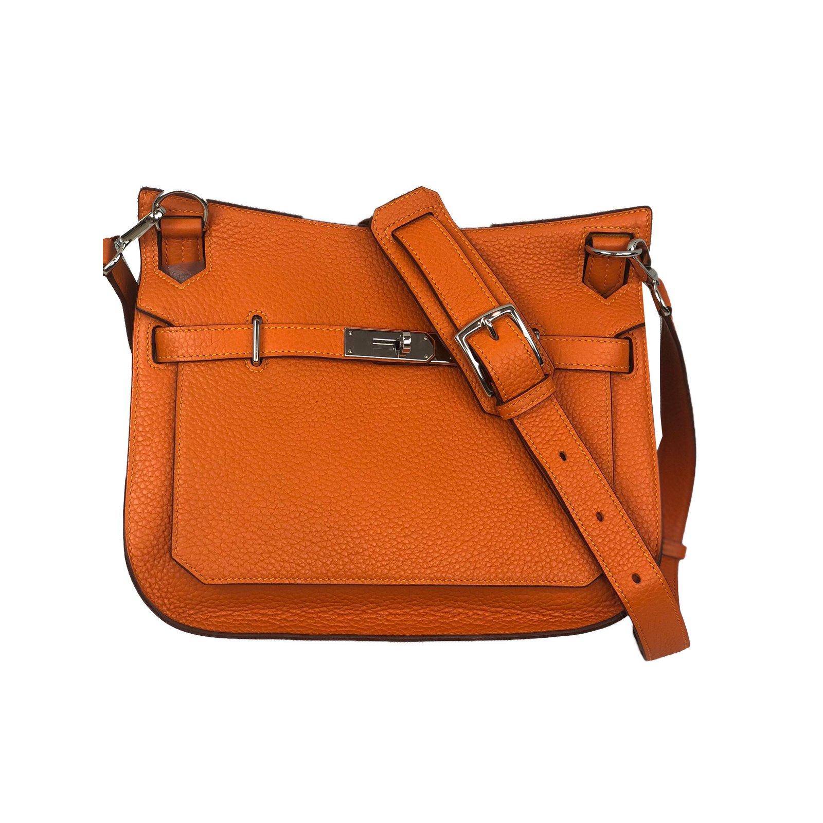9dc5056e6230 ... black leather togo. hardware best price sacs à main hermès jypsiere  cuir orange ref.75512 9c130 5e609 ...