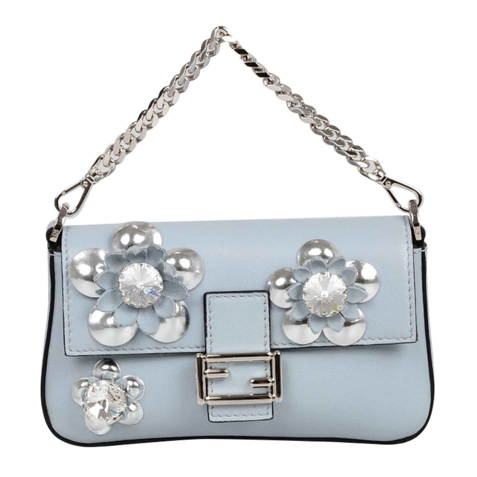 b07f9c0f6a Fendi Handbags Handbags Leather Blue ref.75904 - Joli Closet