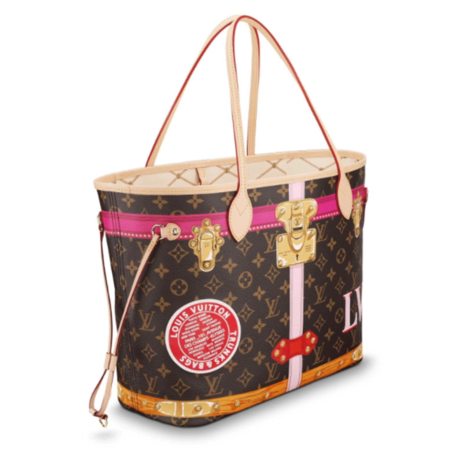 Sacs à main Louis Vuitton Neverfull Cuir,Toile Autre ref.75922 ... a02b06a5214