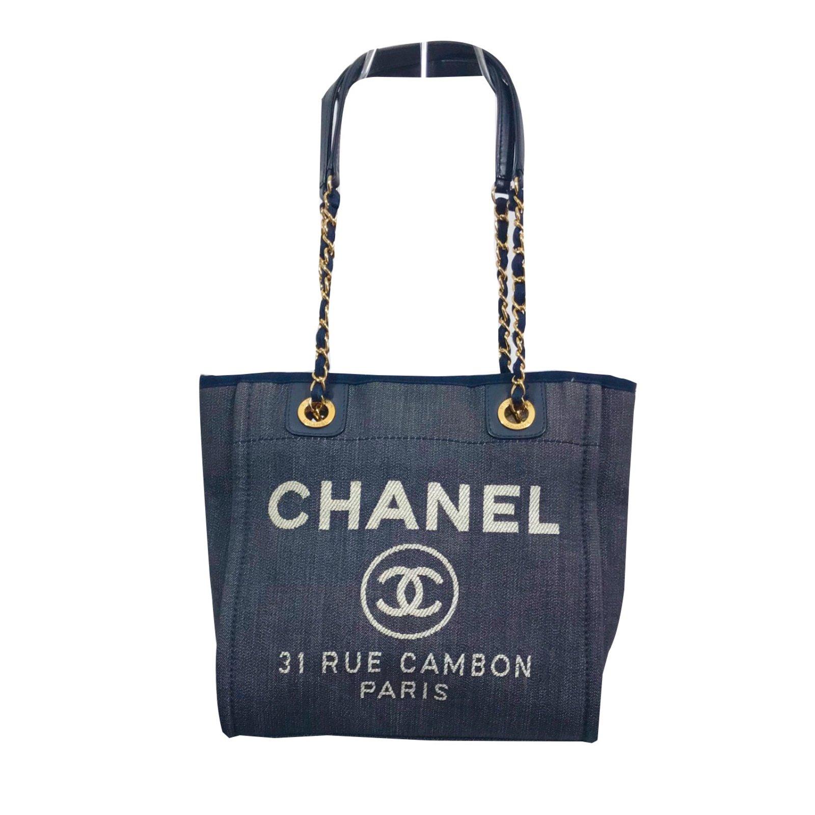 e271fe1a336 Sacs à main Chanel Sac Deauville Toile
