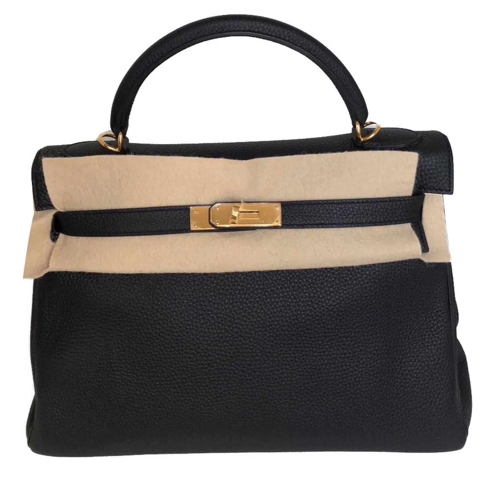 add65f612a29 ... ebay hermès kelly 32 handbags leather black ref.76124 94110 3e34e