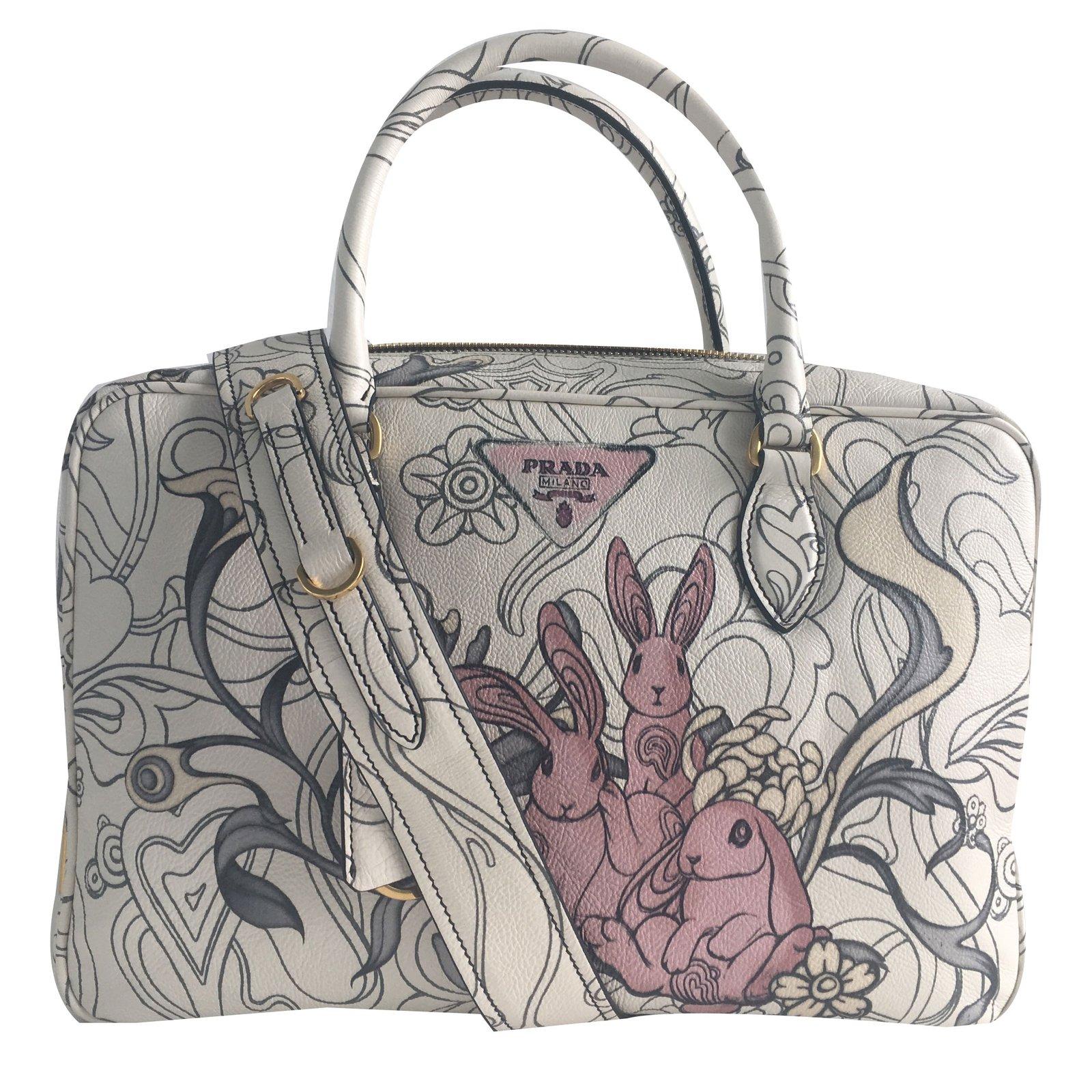 6871bc2d5045 Prada Rabbit bag ressort 2018 Collection Handbags Leather Ebony ref.76187