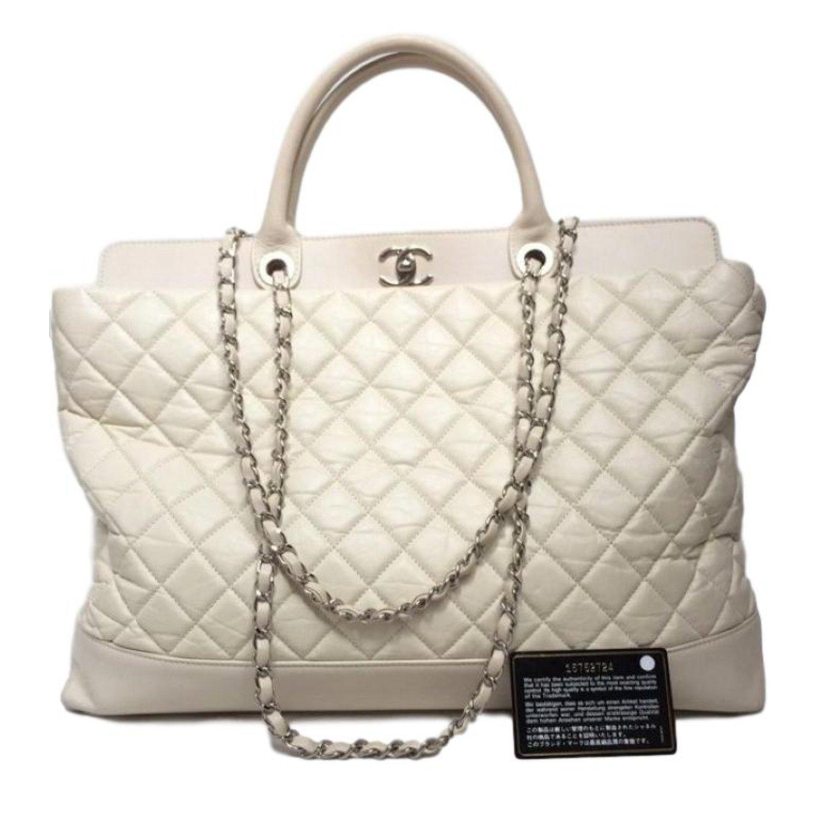 Chanel Handbags Leather Beige