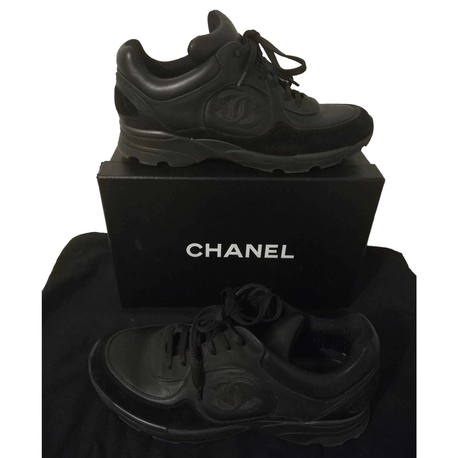 Chanel sneakers Sneakers Leather Black