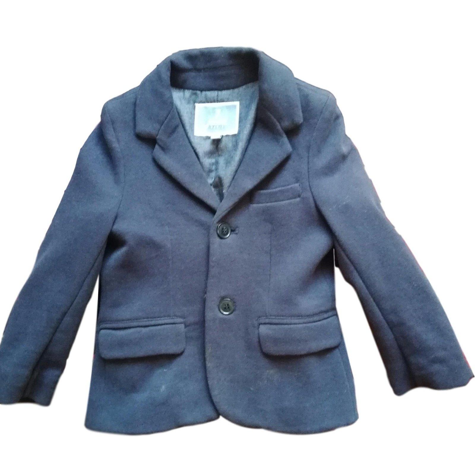 Veste coton bleu marine