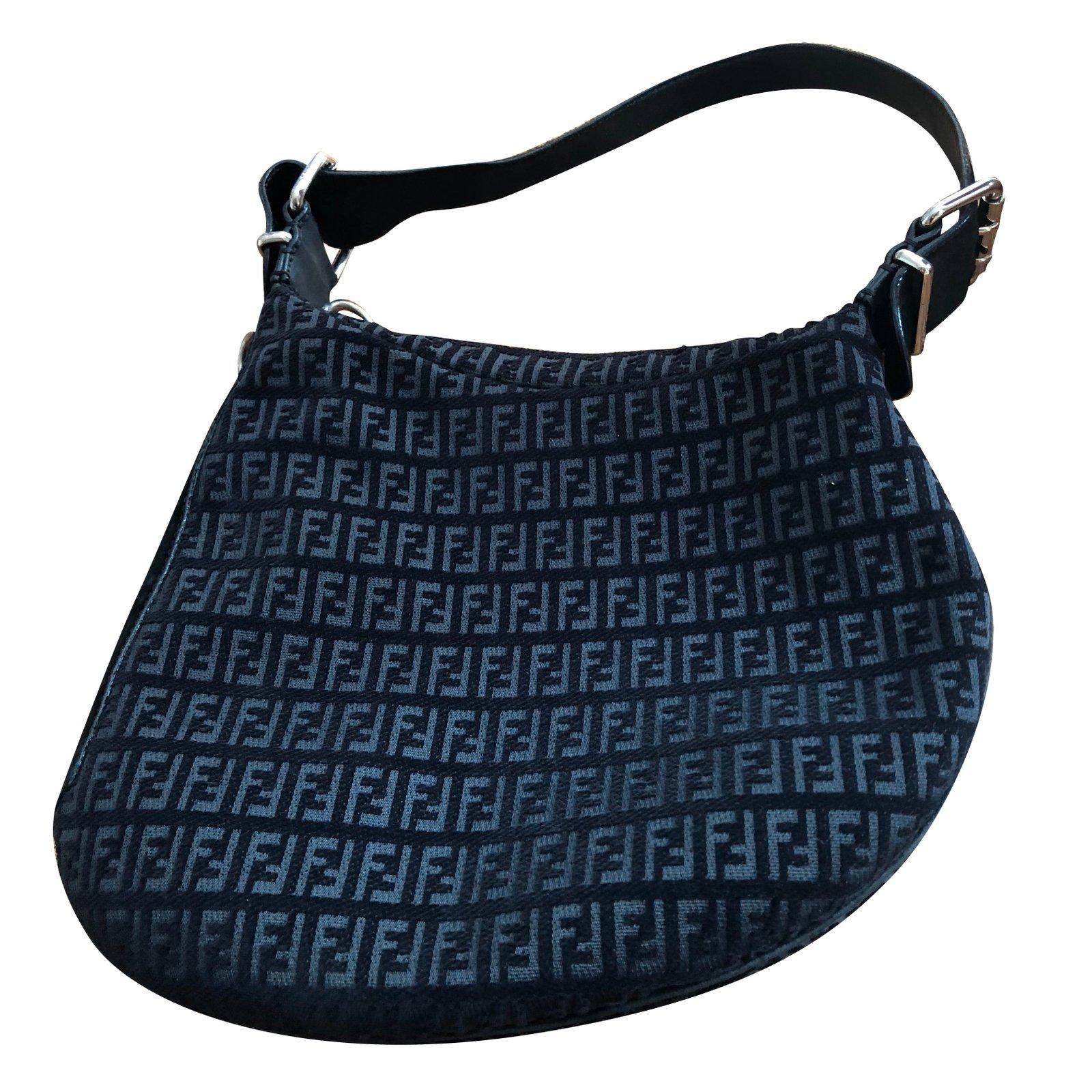 c5b527f0921 ... greece fendi shoulder bag handbags cloth black ref.77018 4576b 4a791