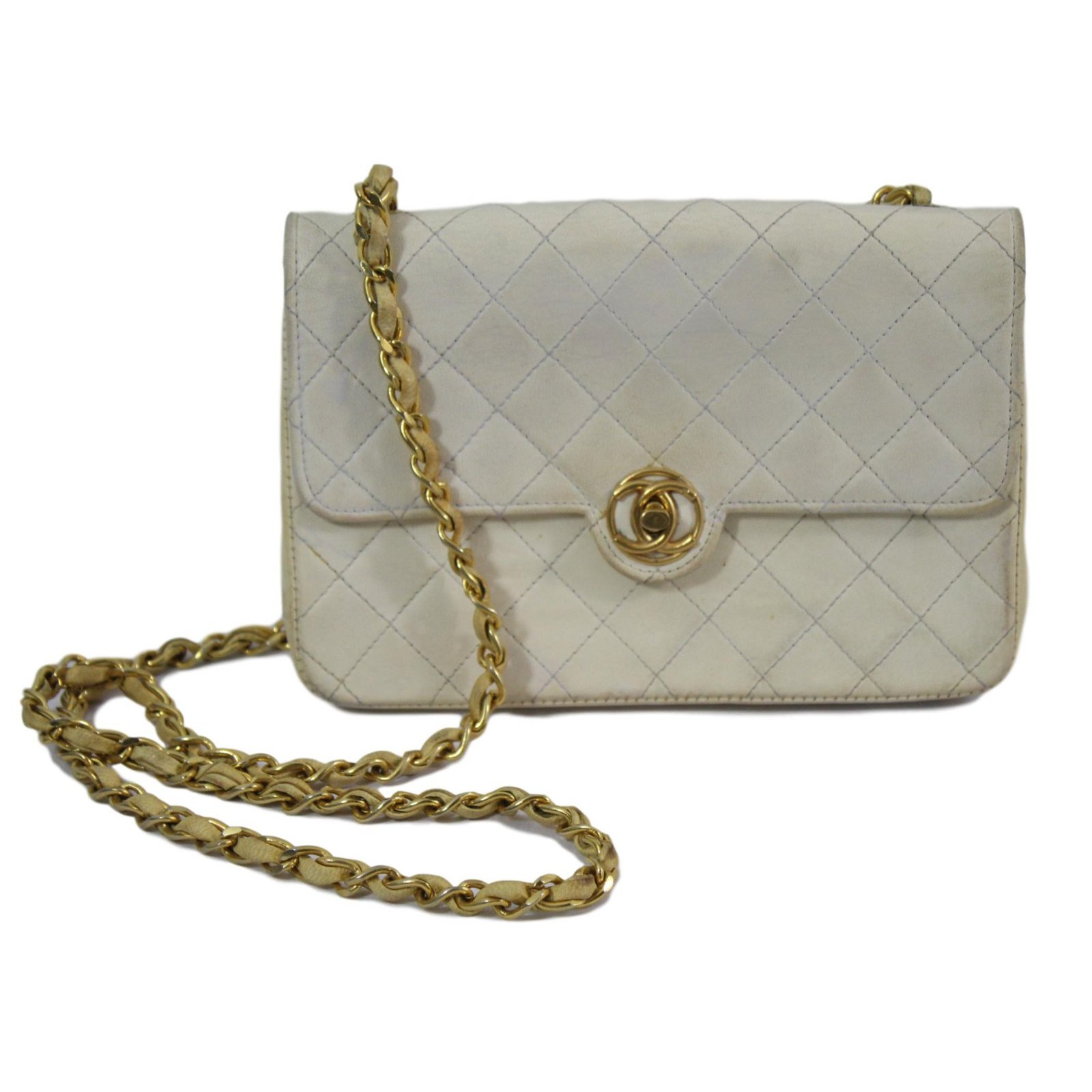 Chanel Handbags Handbags Leather White ref.77150 - Joli Closet cf74495d709de