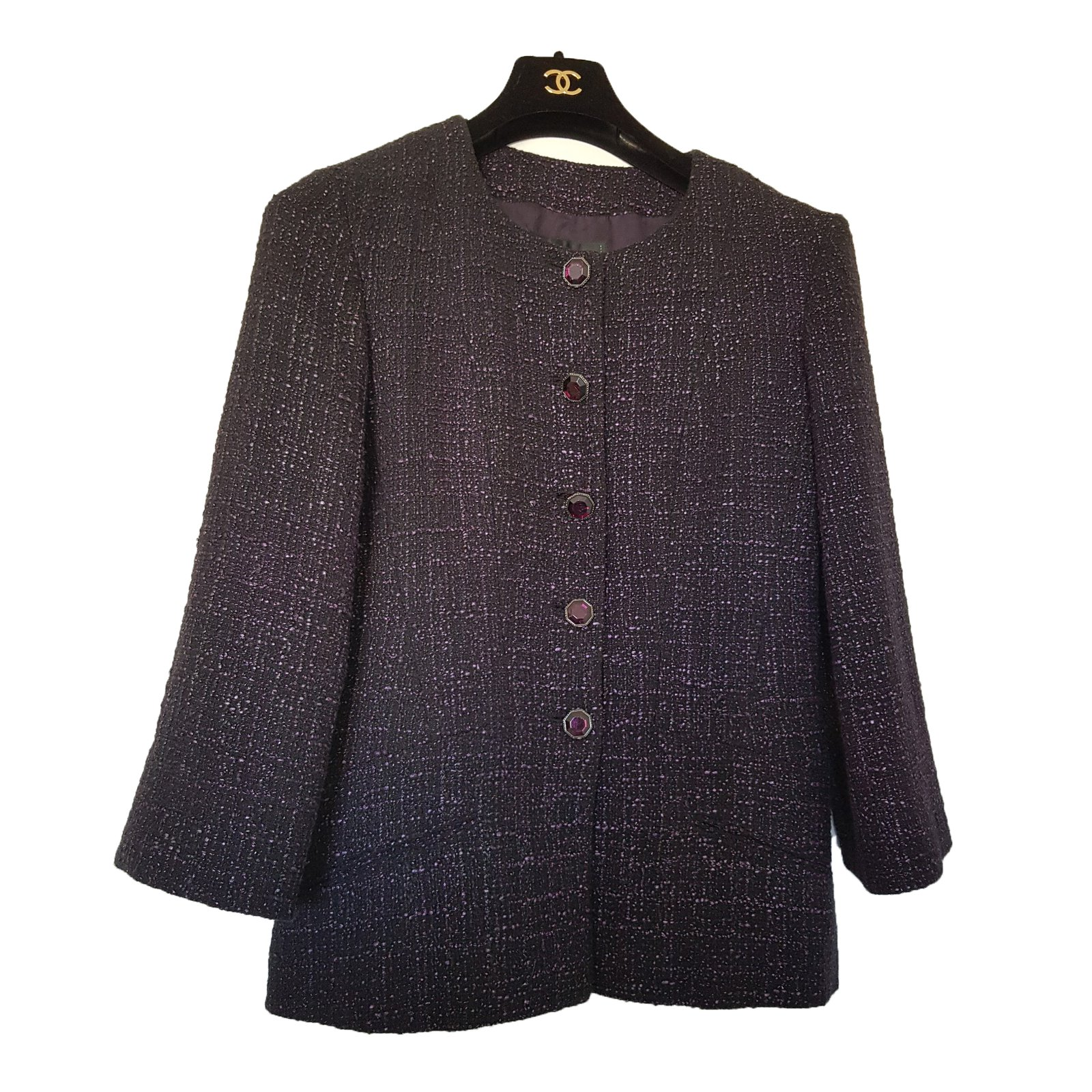 Vestes Chanel Veste Tweed Coton Autre Ref 77285 Joli Closet
