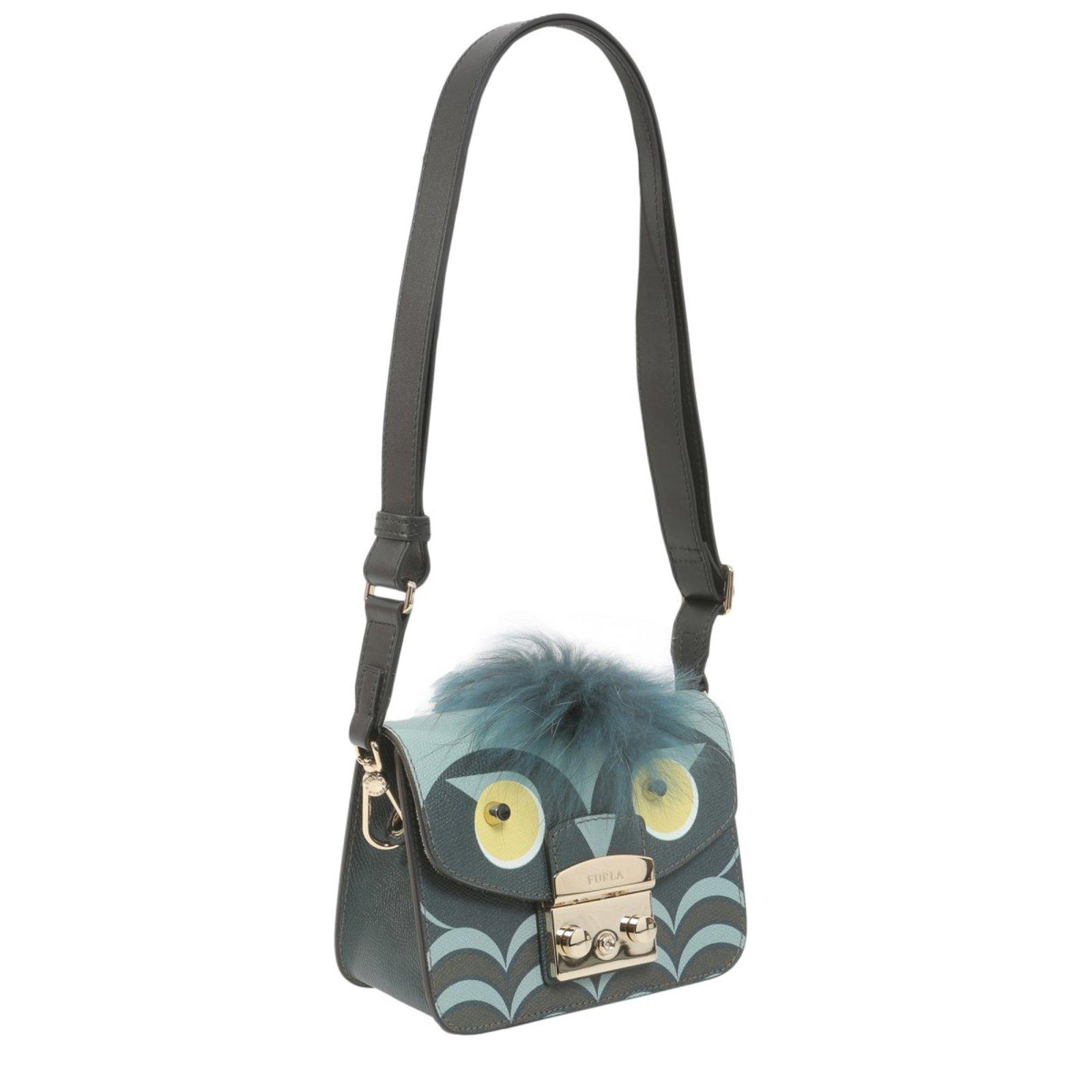 b238259f5d53 Furla Furla bag new Handbags Leather Dark grey ref.77347 - Joli Closet