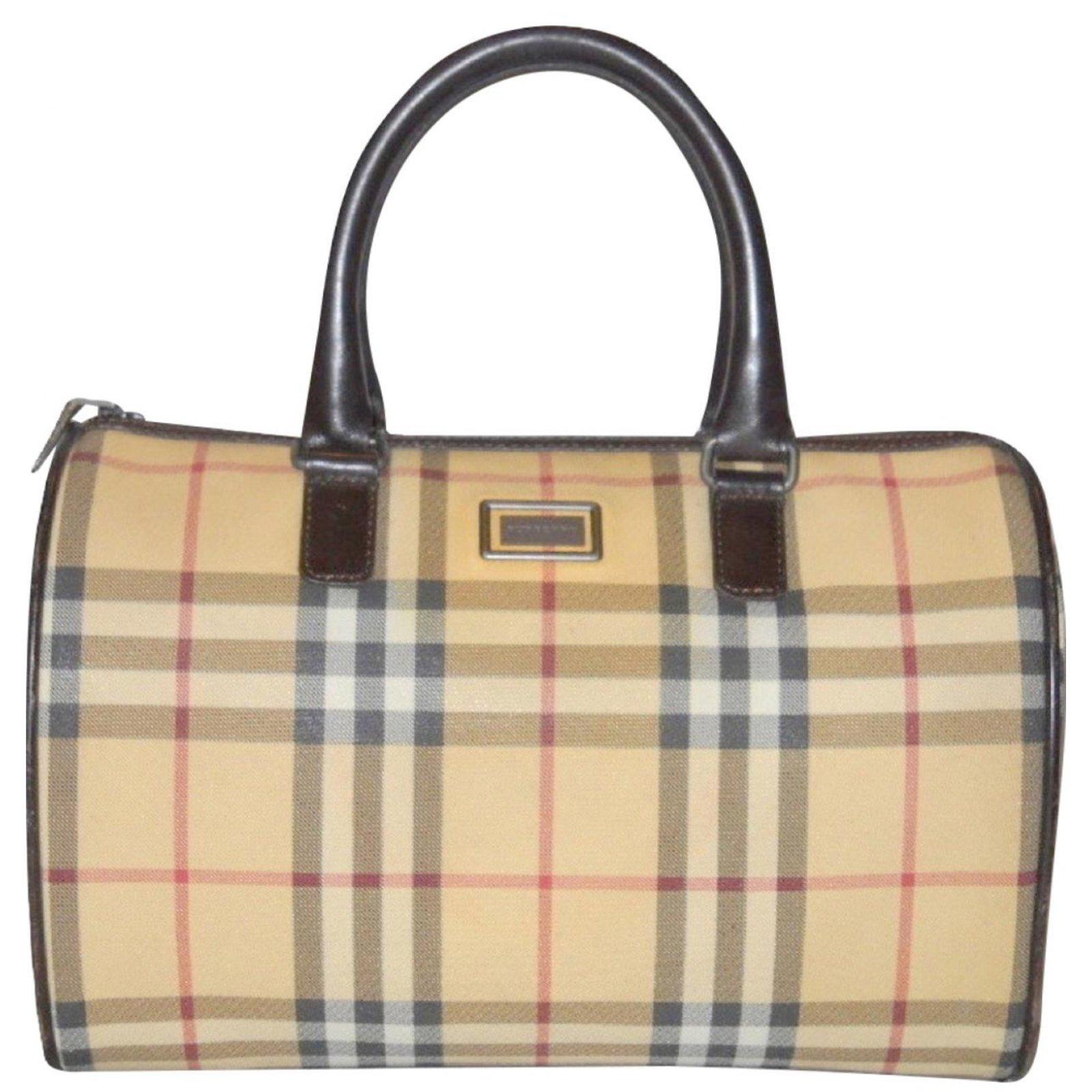 2c36ea043014 Burberry Handbags And Purses Purseblog. Burberry Handbags Leather Synthetic  Brown Beige Ref 77664