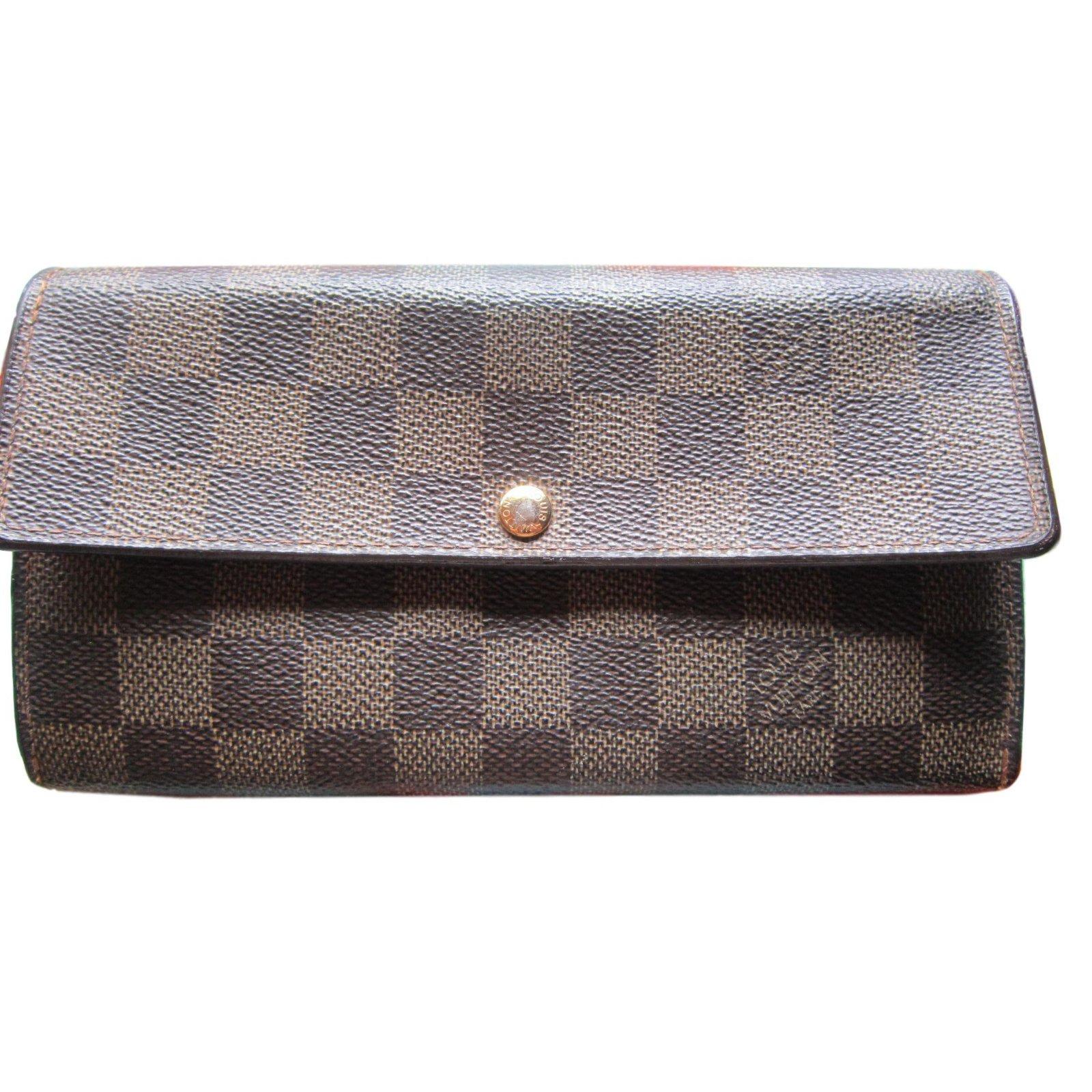 7b7ededaf0847 Louis Vuitton Sarah Purse Wallets Leather Brown ref.78201 - Joli Closet