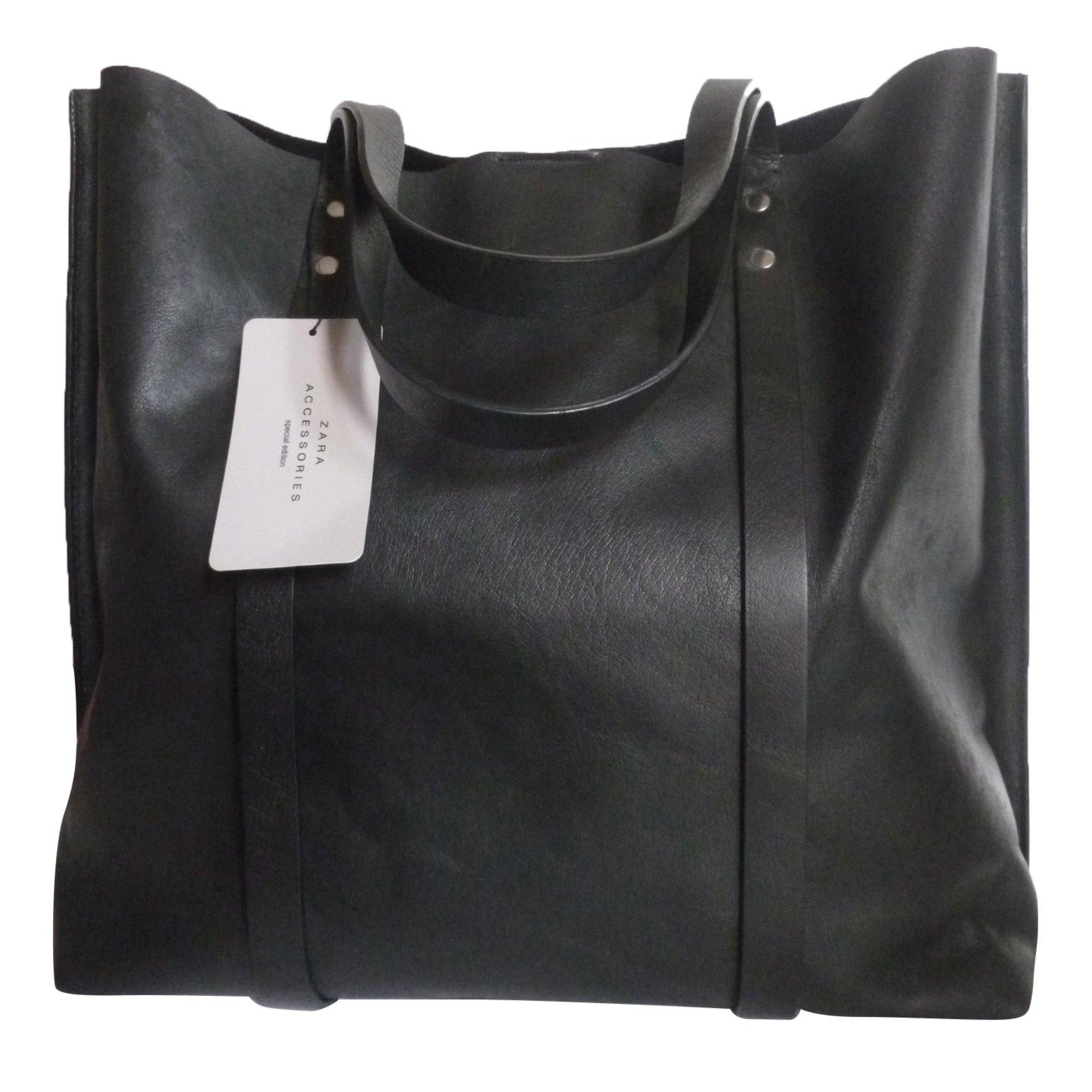 Zara Leather Per Bag Handbags