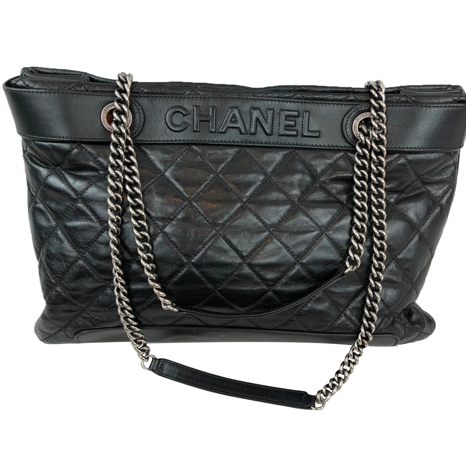 Chanel Handbags Handbags Leather Black ref.78325 - Joli Closet c177dd814c640