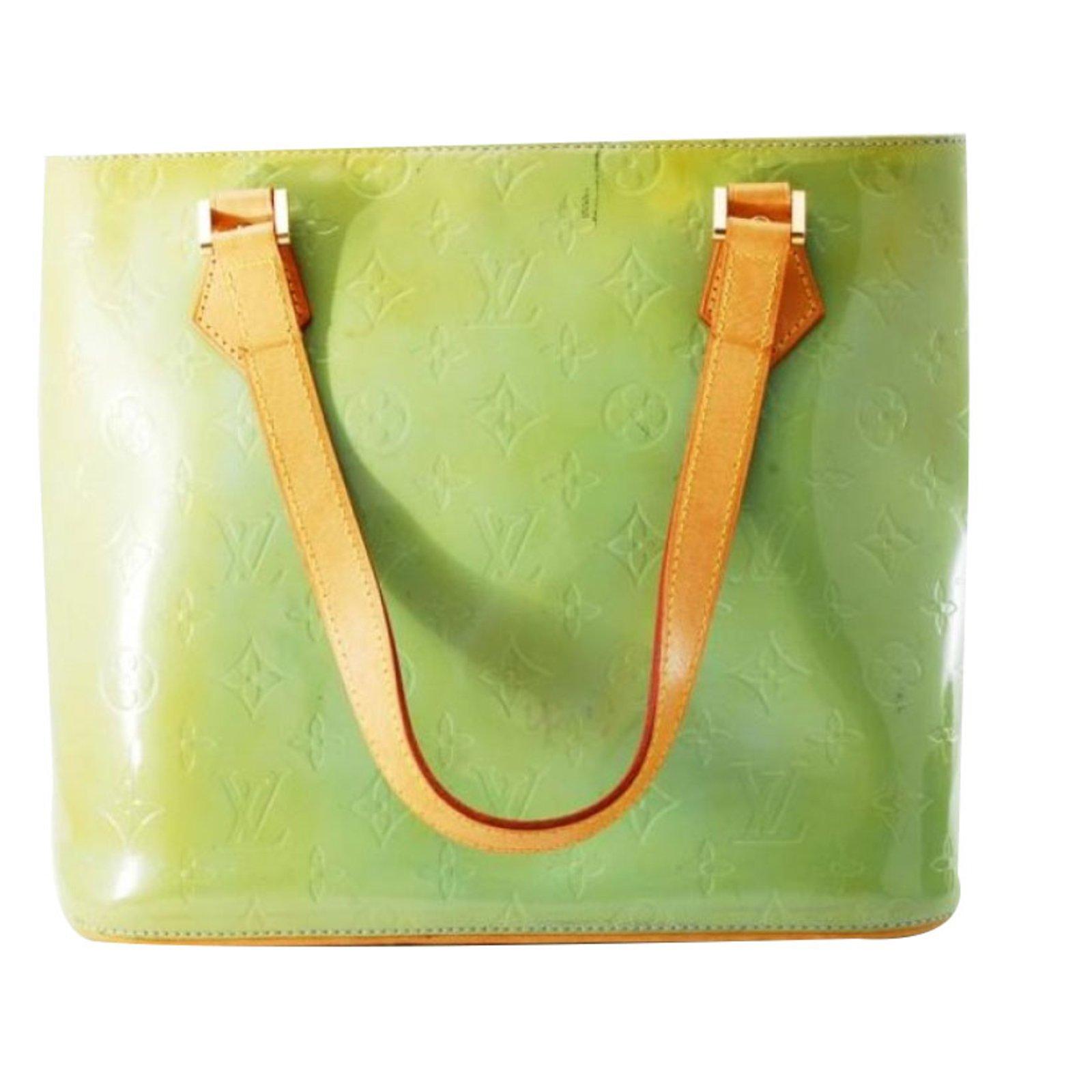 Sacs à main Louis Vuitton Sacs à main Cuir vernis Vert ref.78471 ... ba95fd0cea2