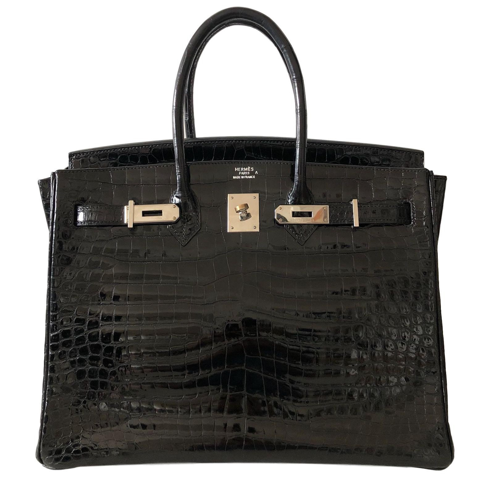 849a3327827d ... discount code for hermès birkin 35 handbags exotic leather black  ref.78509 79c20 92872