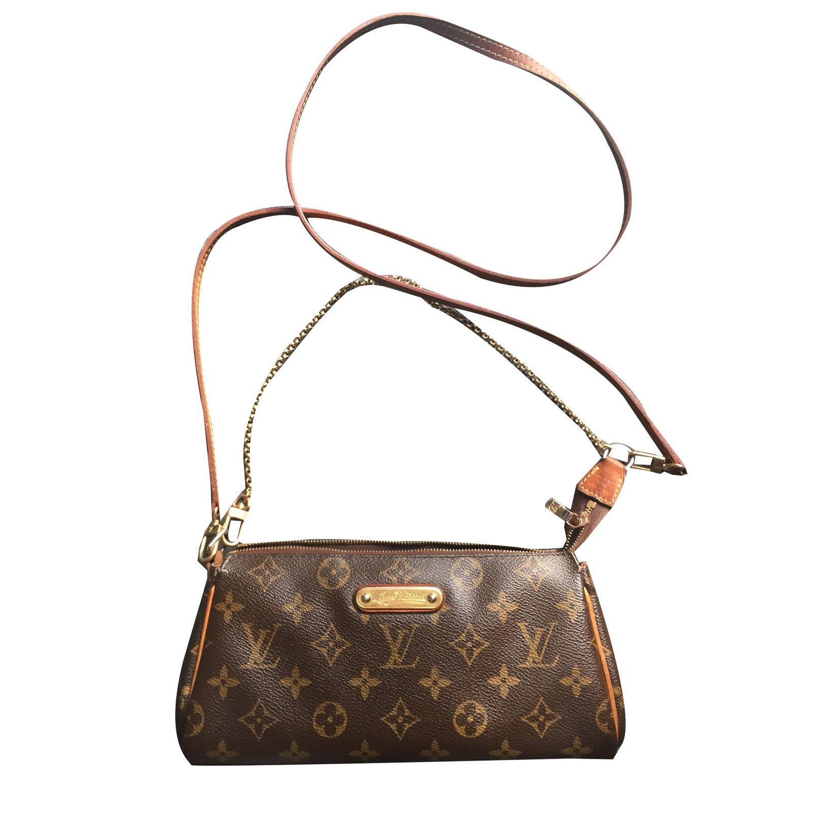 Louis Vuitton Eva Clutch Bags Cloth Brown Ref 78718 Joli Closet