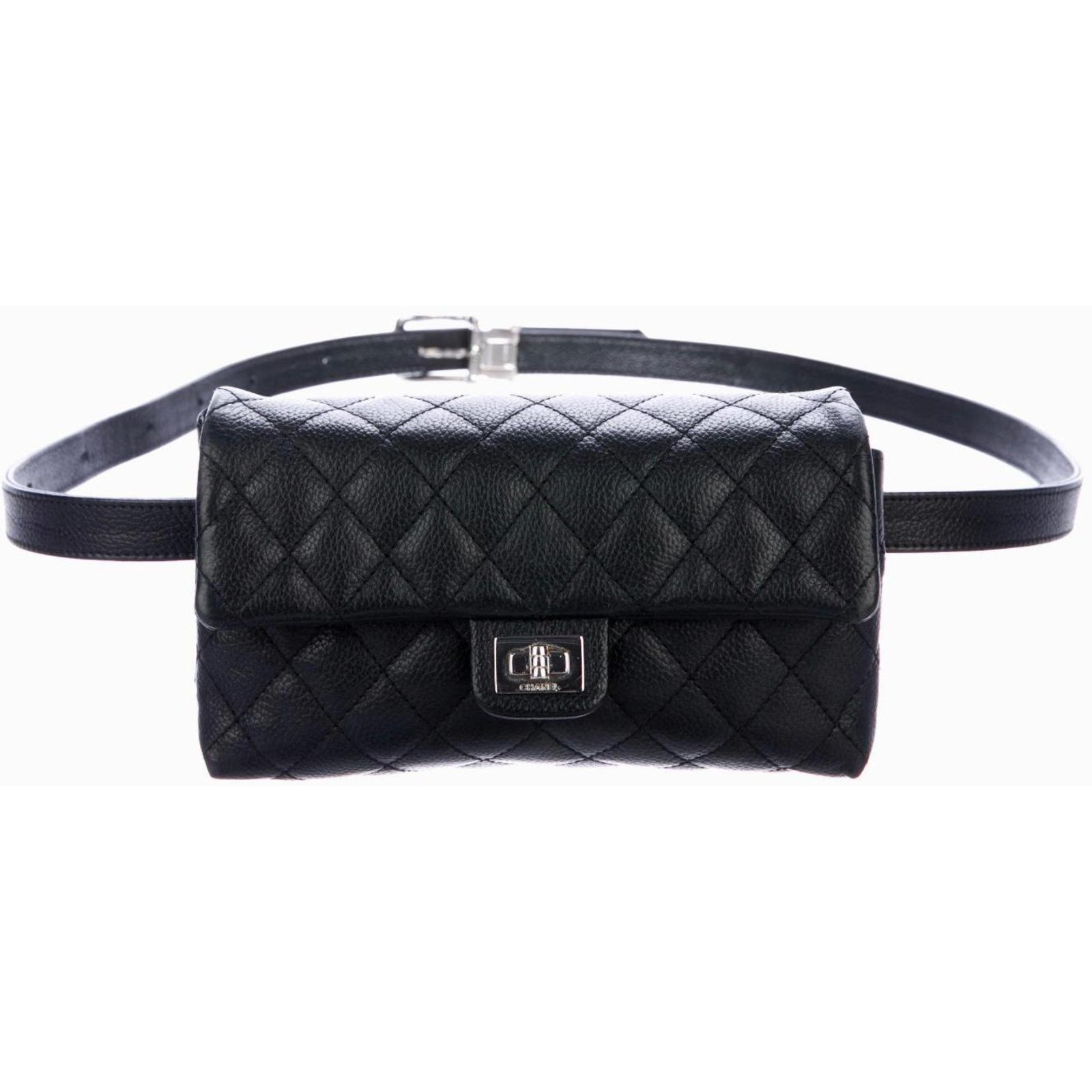 sacs de voyage chanel pochette ceinture cuir noir ref. Black Bedroom Furniture Sets. Home Design Ideas