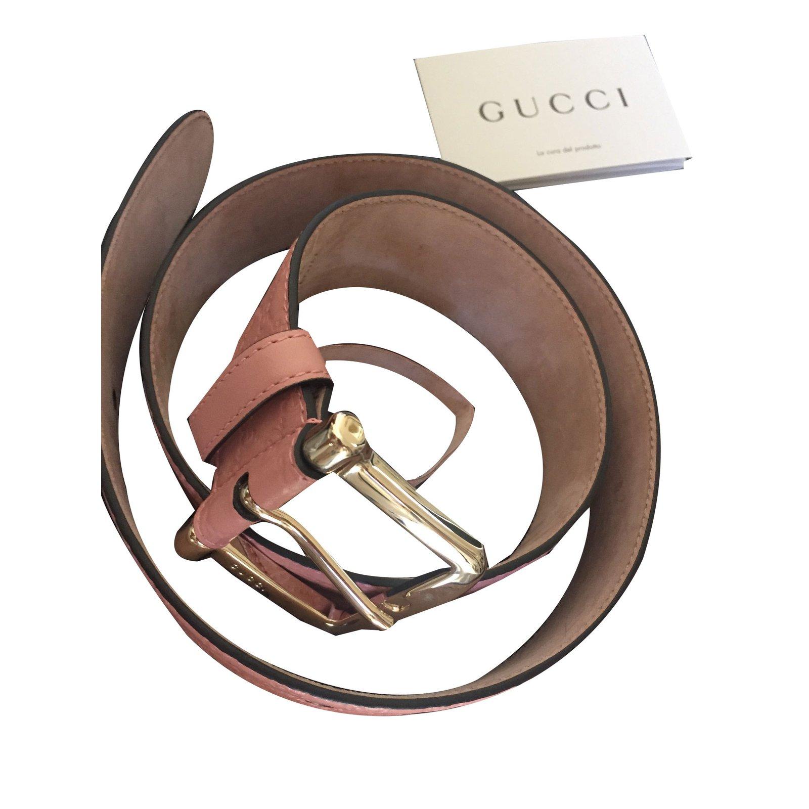 Ceintures Gucci monogram cuir ceinture Cuir Rose ref.79001 - Joli Closet 7e8b260019e