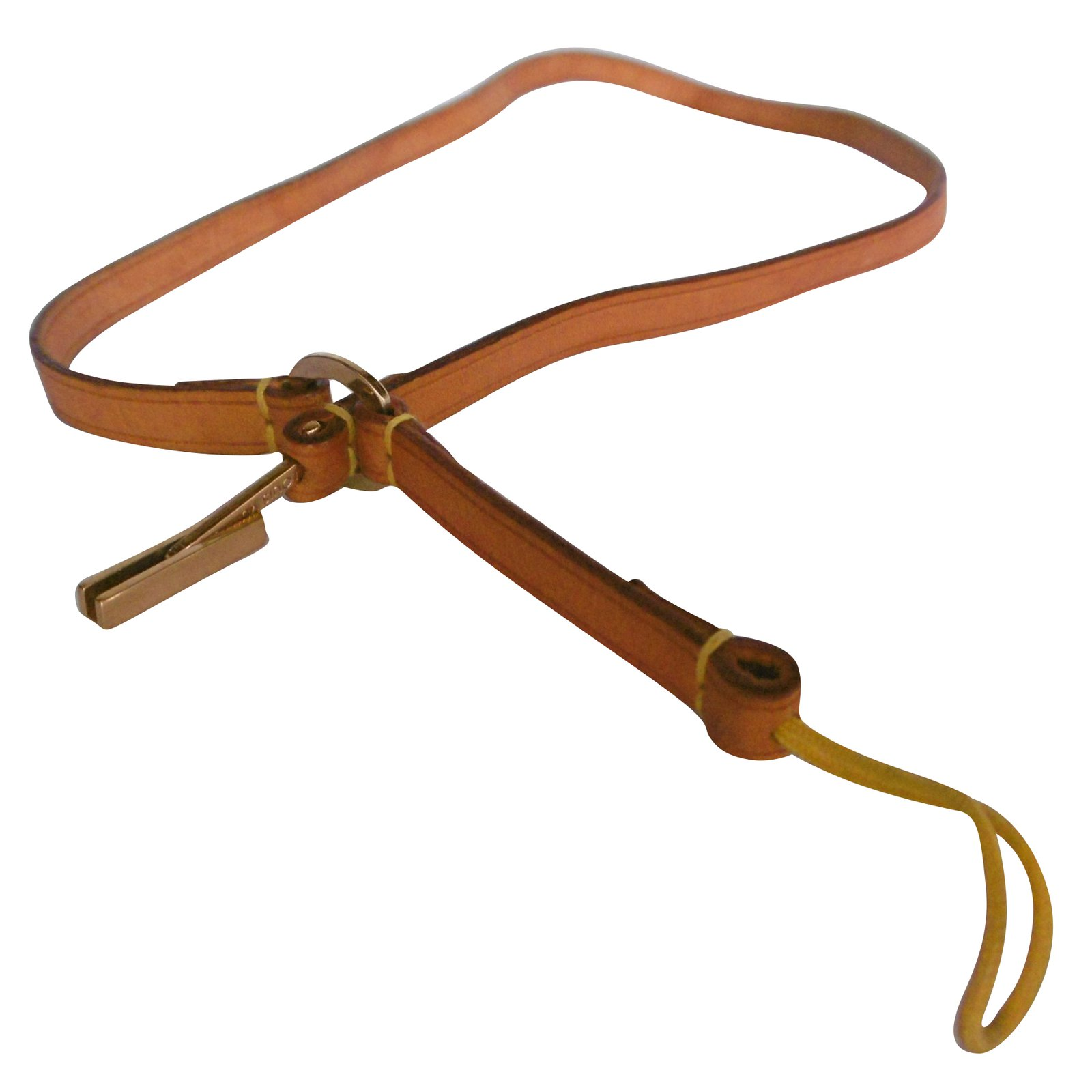 59c11d6e330b Louis Vuitton Leather Phone Accessory Strap Misc Leather Caramel ref.79019