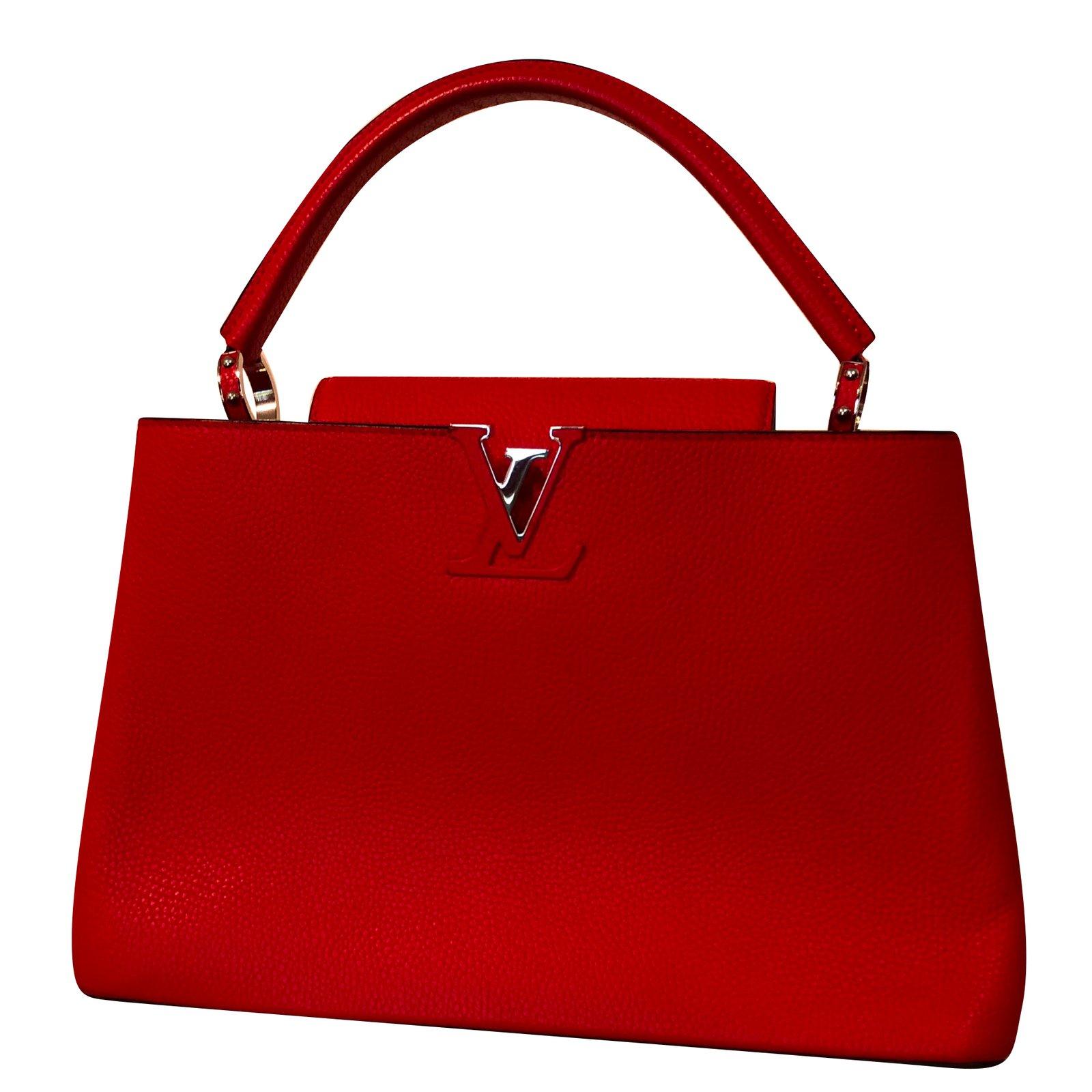 b7765cc6e5 Sacs à main Louis Vuitton Sacs à main Cuir Rouge ref.79112 - Joli Closet