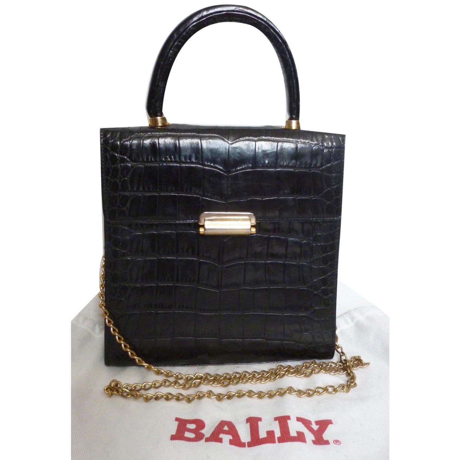 10de973e627c Bally Handbags Handbags Leather Black ref.79414 - Joli Closet
