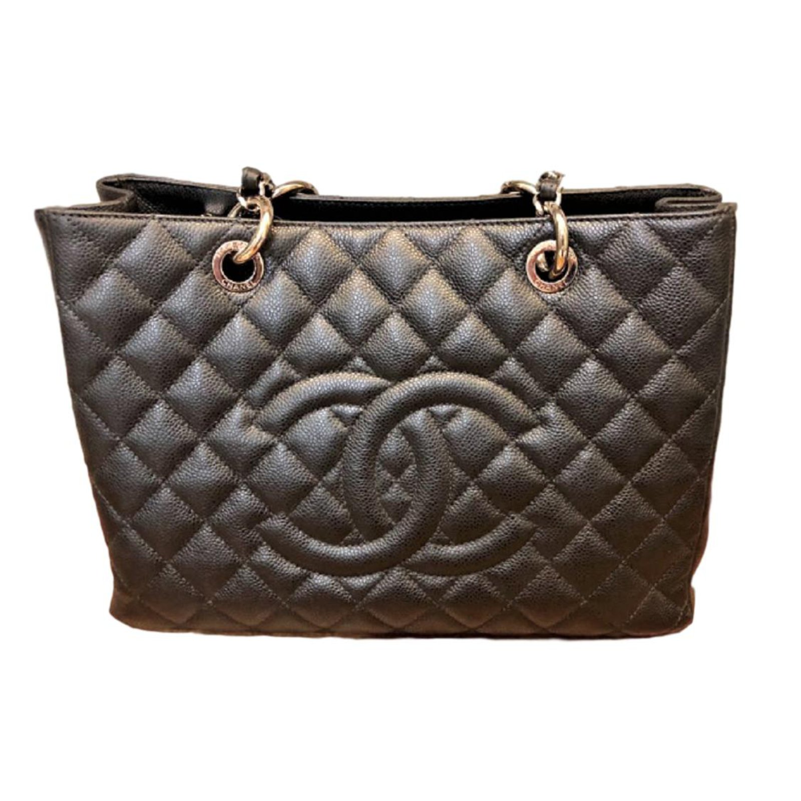 c94d4660533e Chanel GST tote bag Black Caviar Leather Totes Leather Black ref.79754