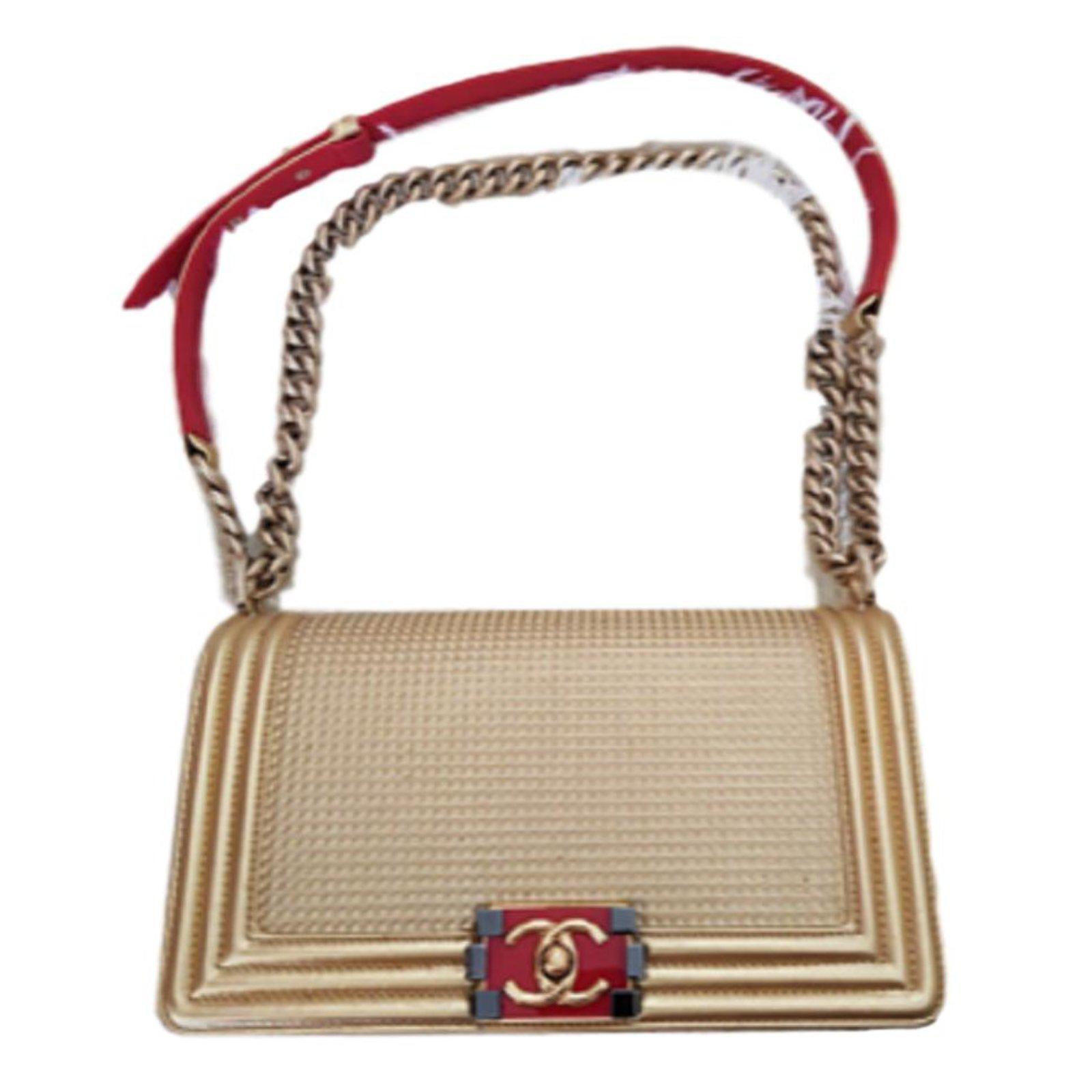 Chanel Dubai Gold Medium Boy Bag