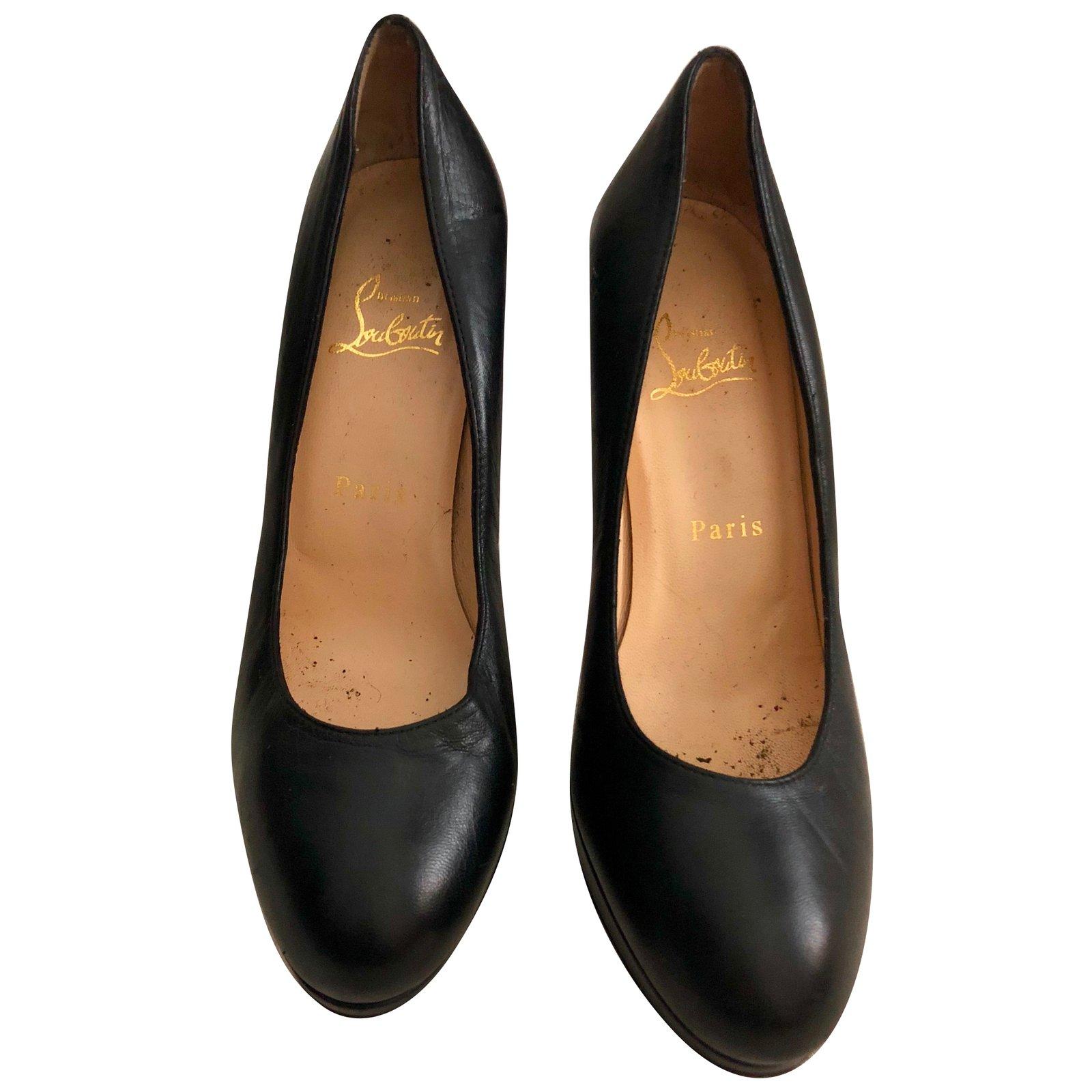 louboutin cuir noir