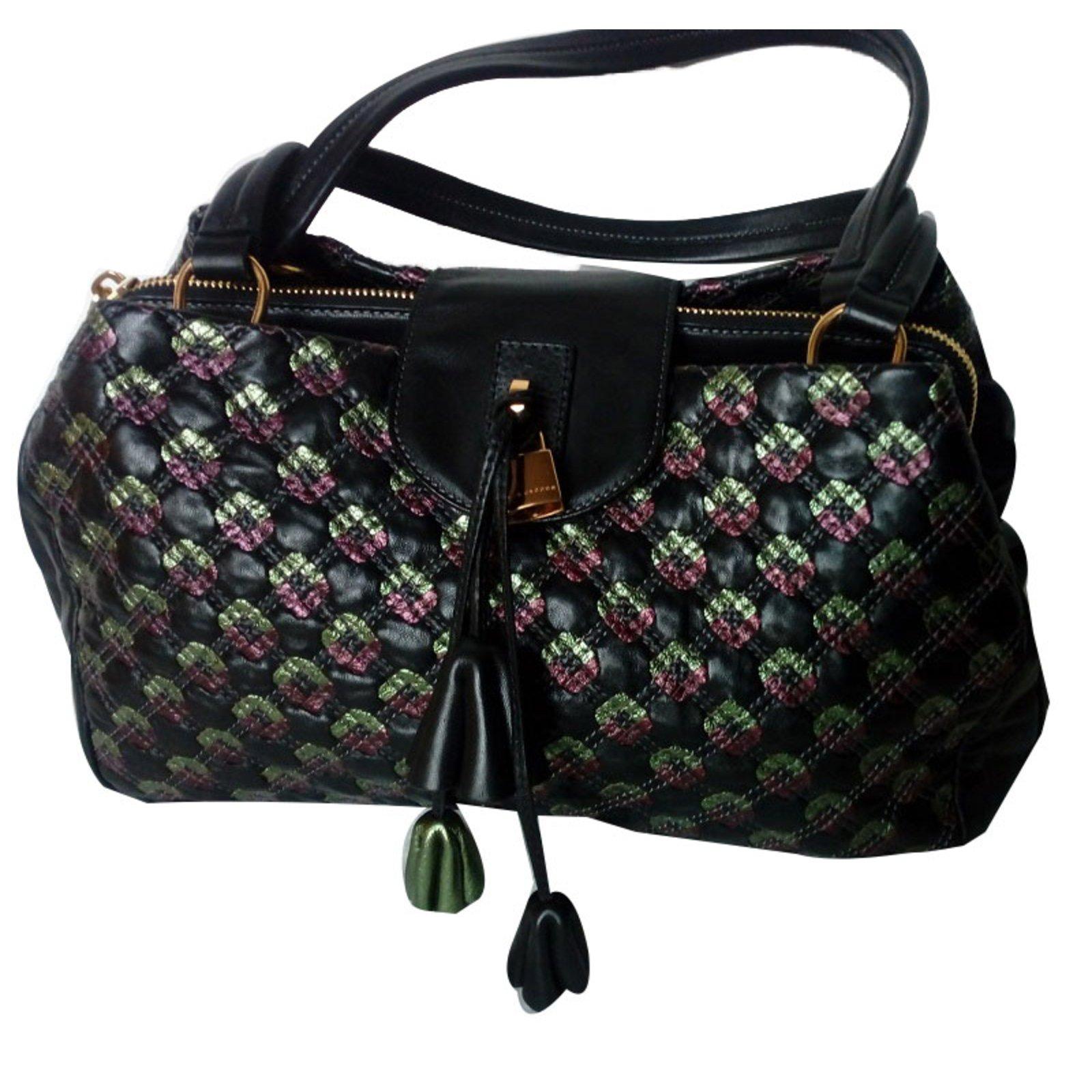 Marc Jacobs Handbags Lambskin Black Ref 80013