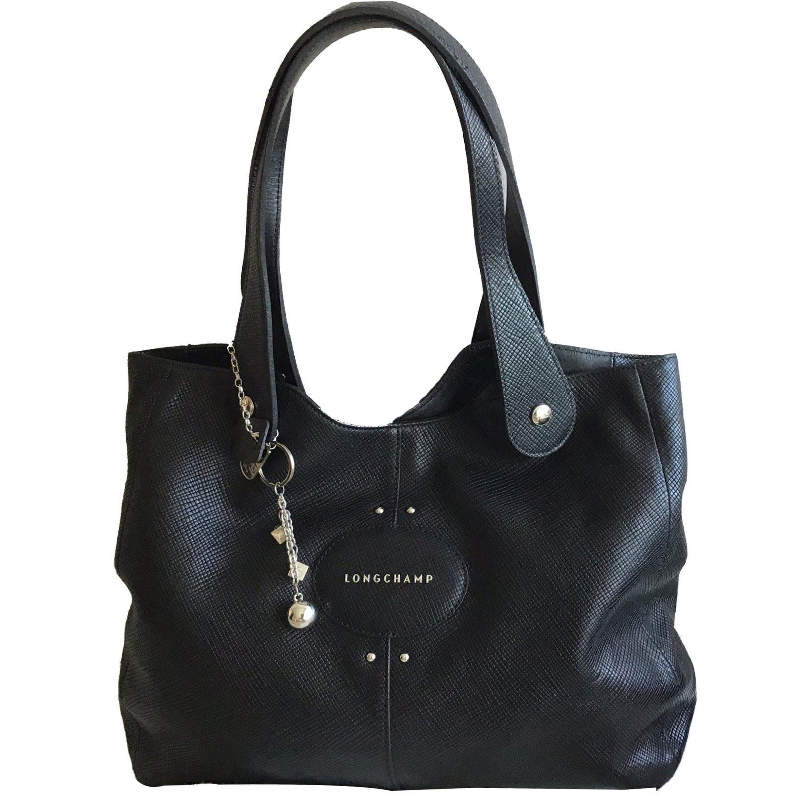 a910a18189a Longchamp Handbags Handbags Leather Black ref.80578 - Joli Closet