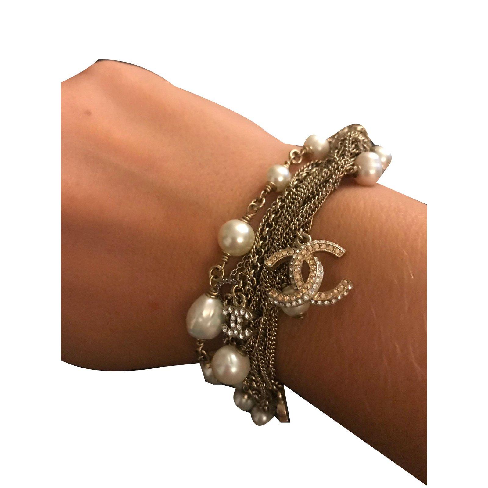 ee8101249883 Chanel Bracelets Bracelets Pearl White ref.80663 - Joli Closet