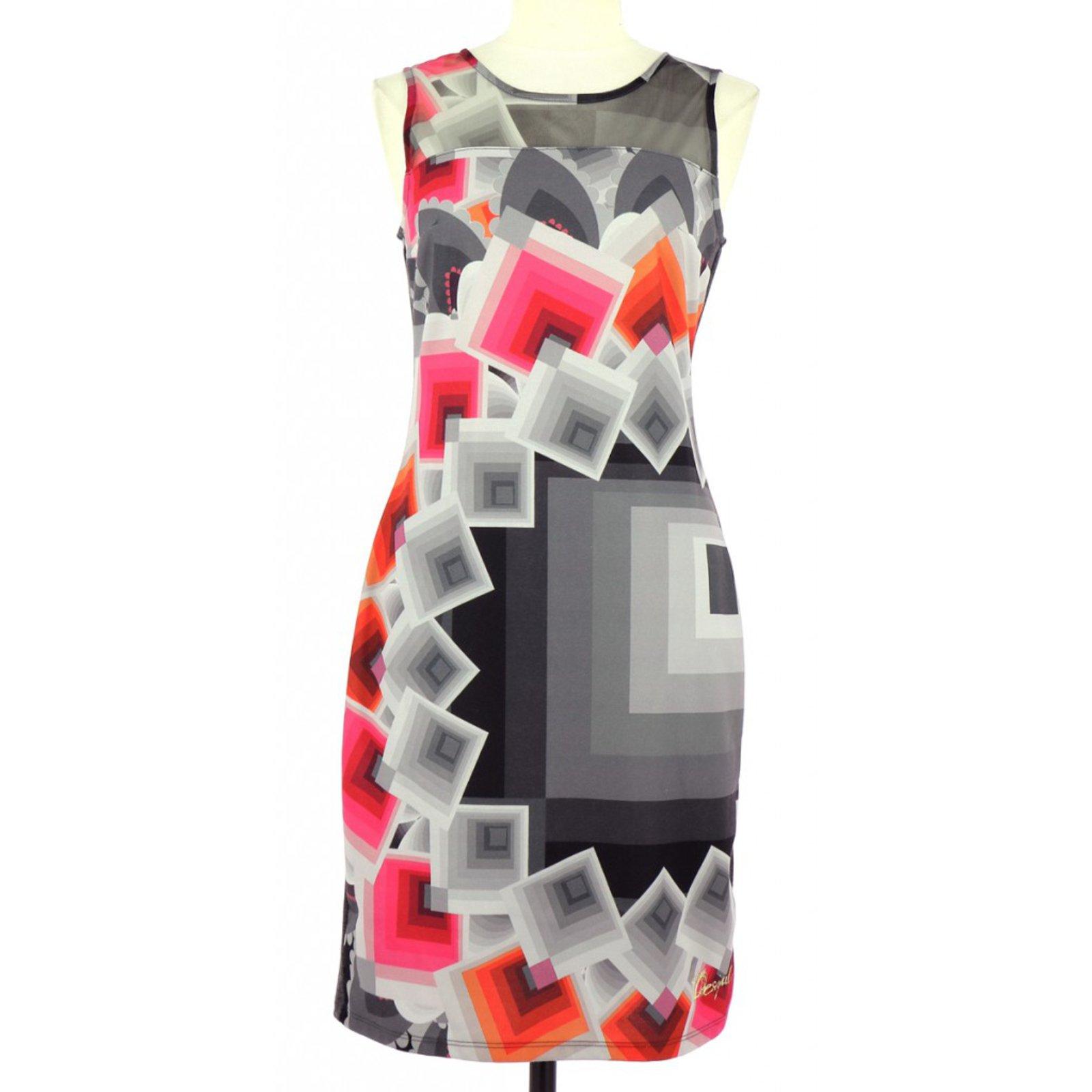 Robe Joli Robes Gris Desigual 80928 Closet Ref Polyester 1FKTlJc