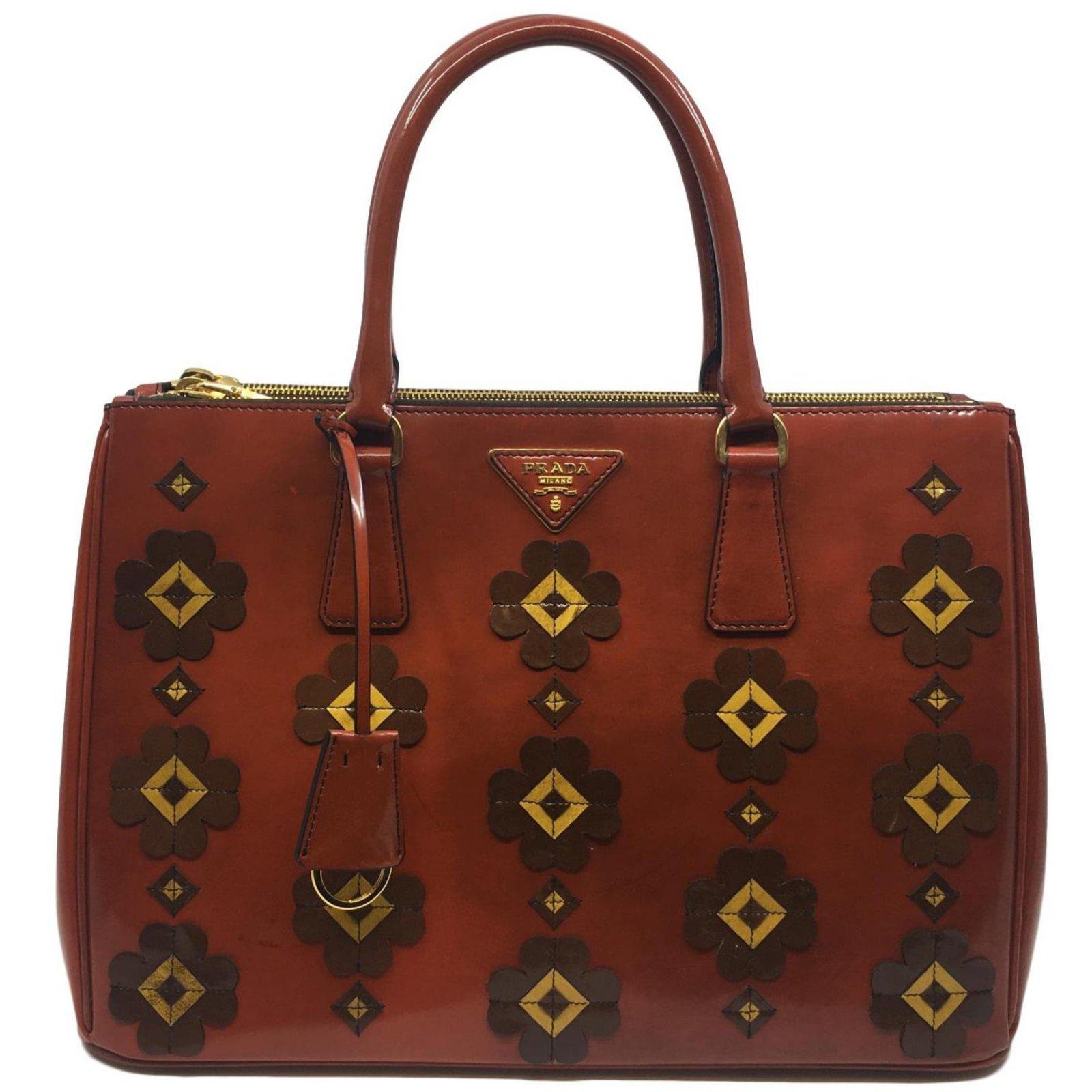 73c36e741312 Prada Galleria Handbag Handbags Leather Brown ref.80912 - Joli Closet
