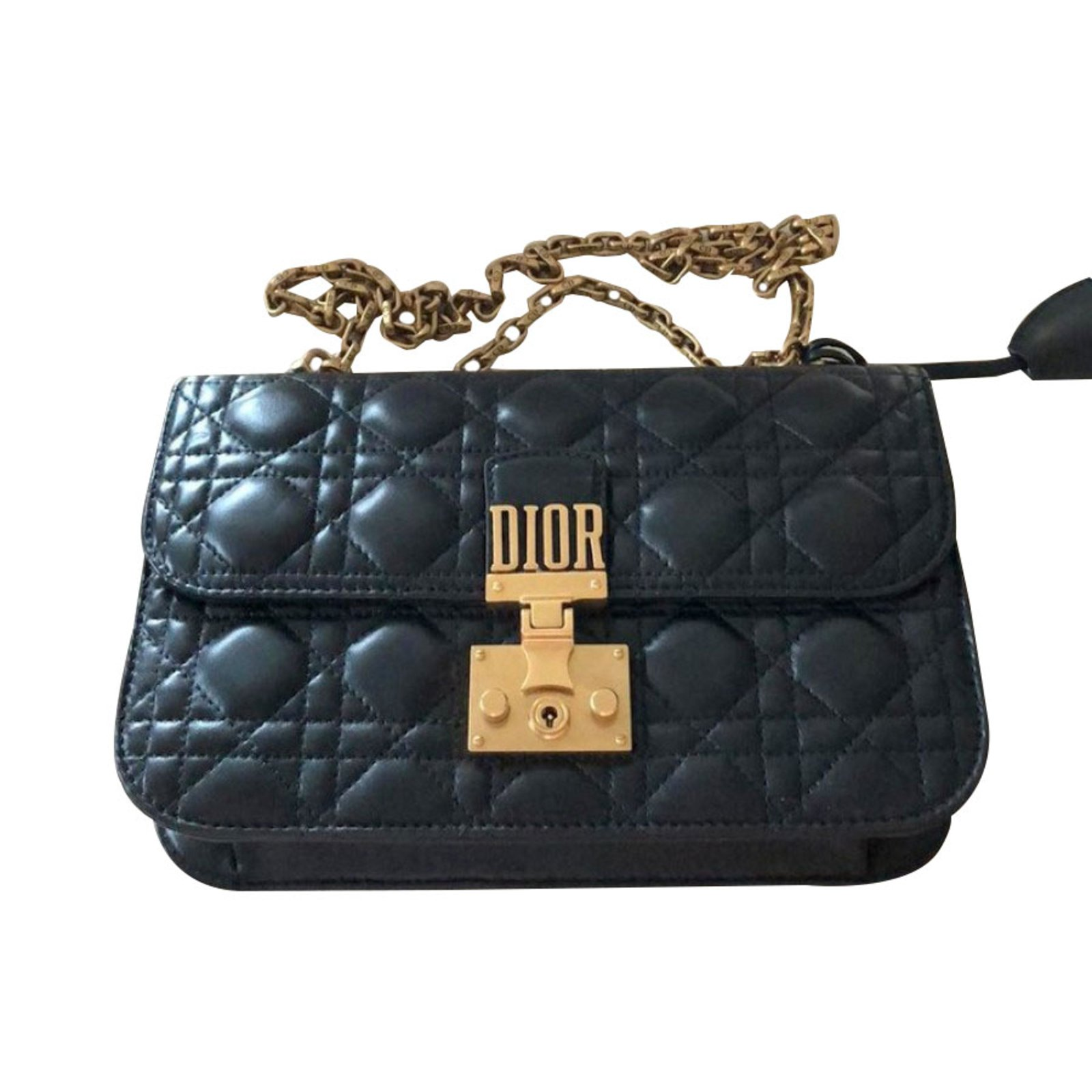 Dior Handbags Leather Black