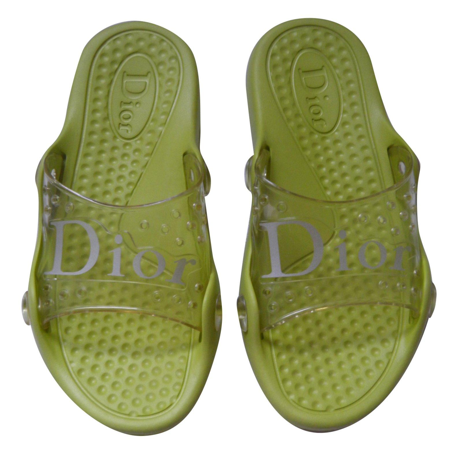 3186207630c7 Dior sandals rubber yellow ref joli closet jpg 1600x1600 Yellow rubber  sandals