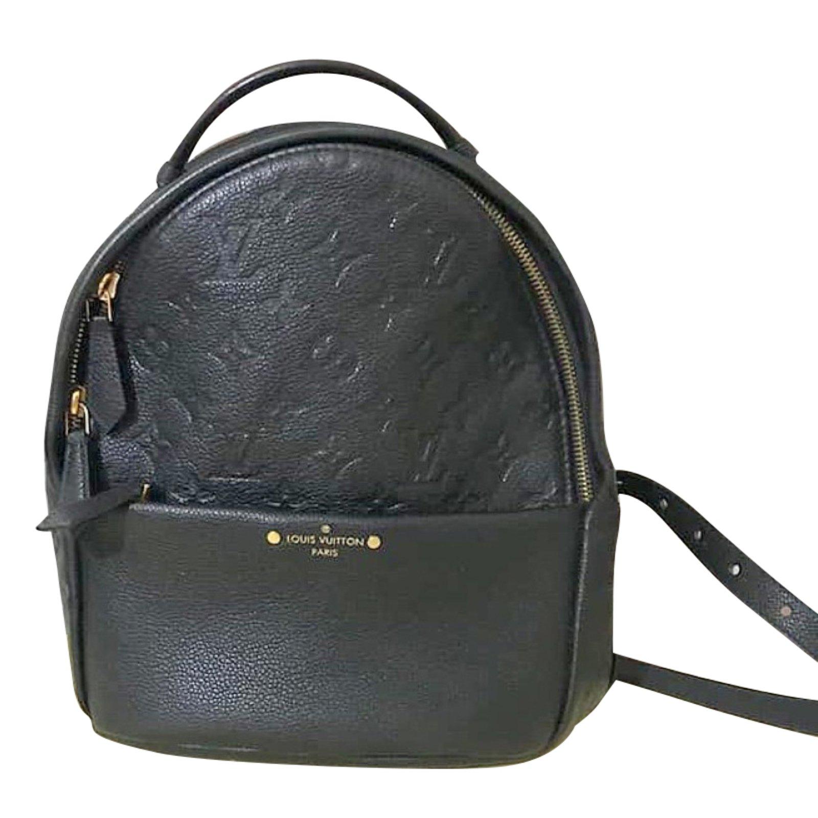 aebea09af9 Louis Vuitton Sorbonne Backpacks Leather Black ref.81613 - Joli Closet