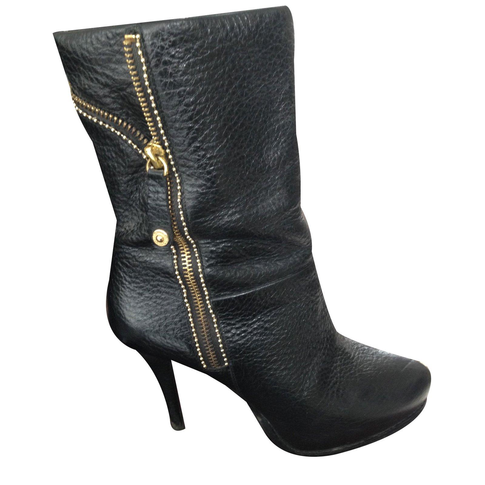 Boots jo 81634 Liu Bottines Closet Ref Noir Cuir Joli qvEETw
