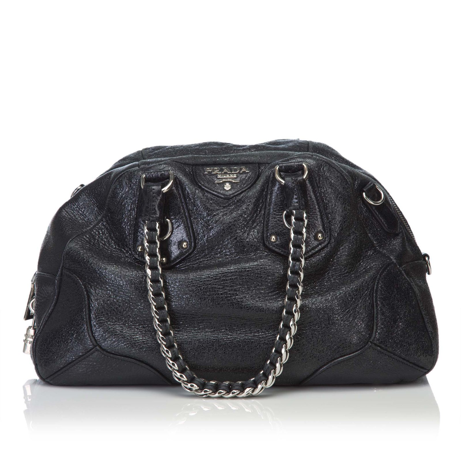 053d6ebae573b8 ... discount code for prada leather chain shoulder bag handbags  leatherother black ref.82097 14011 38244