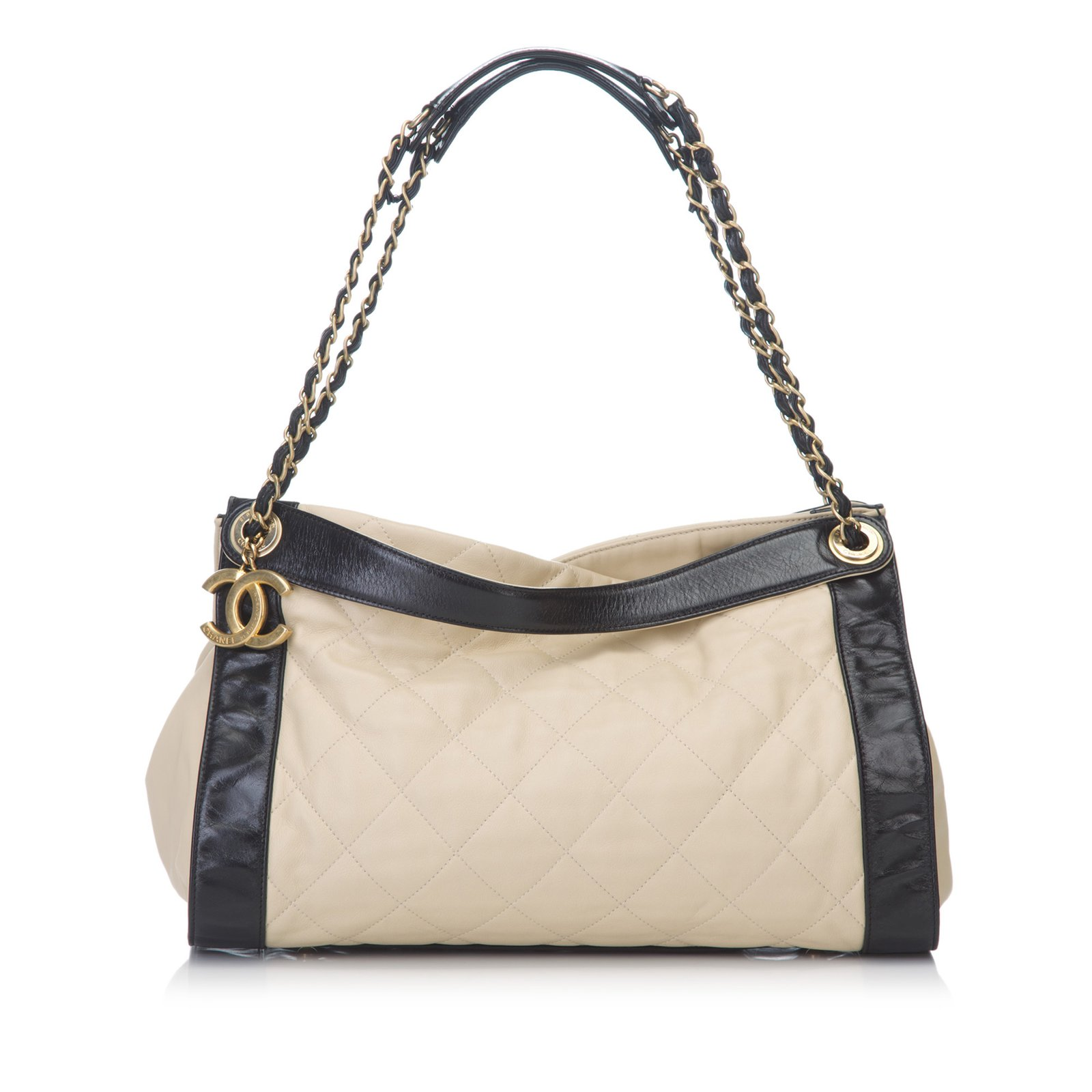 b08e5cced030 Chanel Matelasse Lambskin Leather Shoulder Bag Handbags Leather Brown,Black,Beige  ref.82459